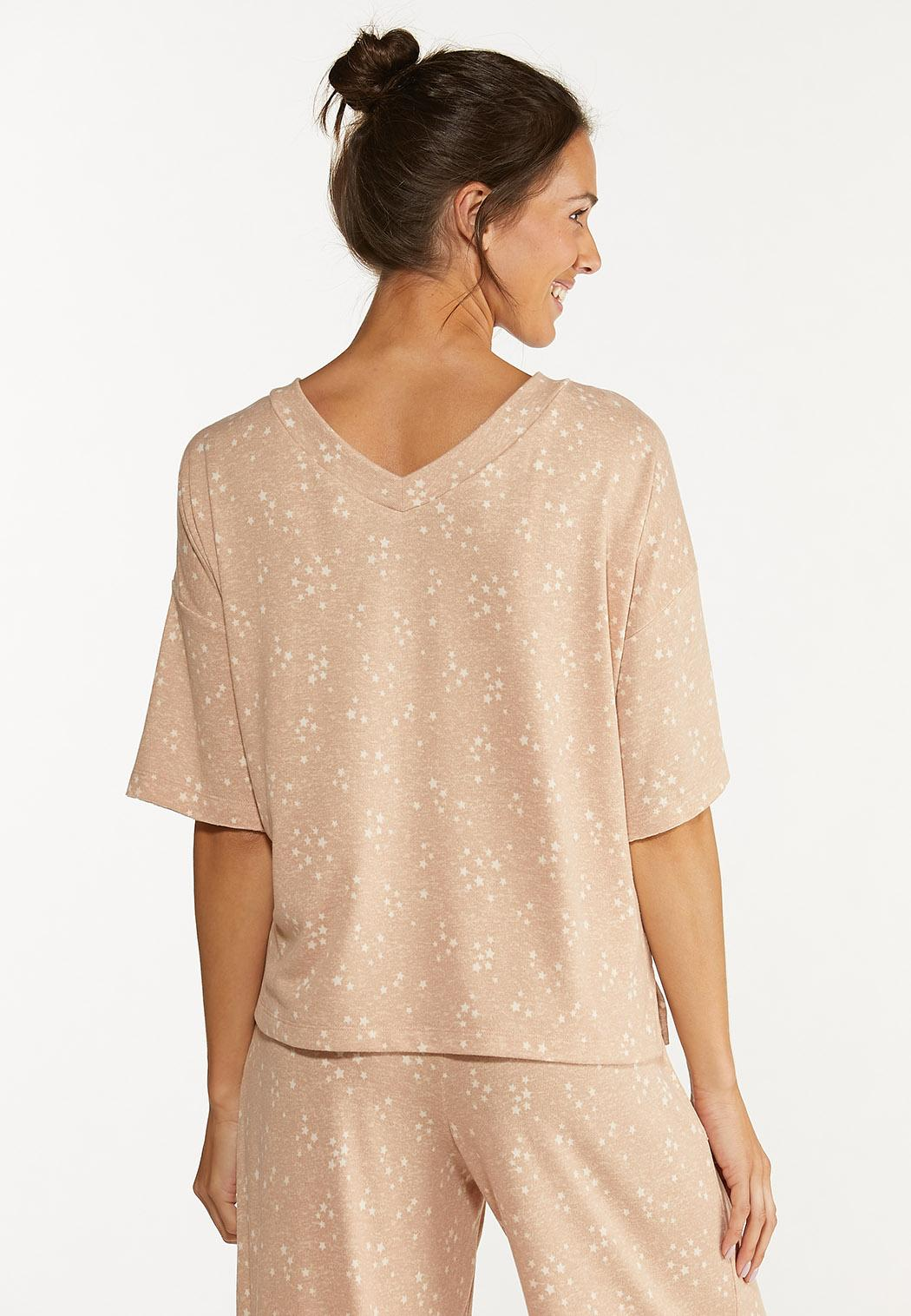 Plus Size Scattered Star Lounge Top (Item #44615302)