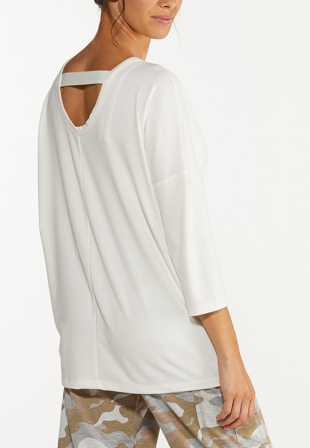 Cutout French Terry Top (Item #44615310)