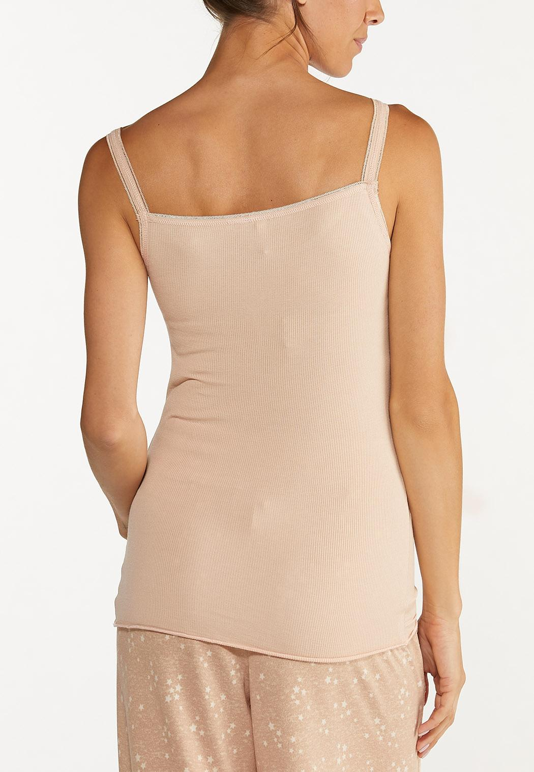 Plus Size Blush Lace Trim Tank (Item #44615360)