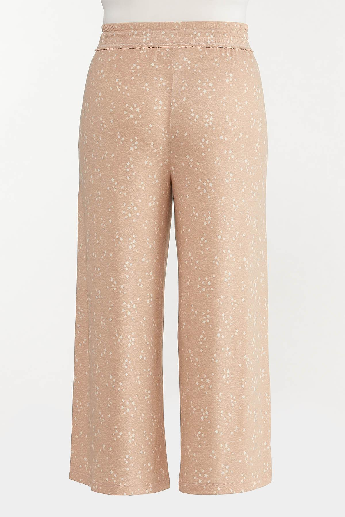 Plus Size Scattered Star Lounge Pants (Item #44615418)