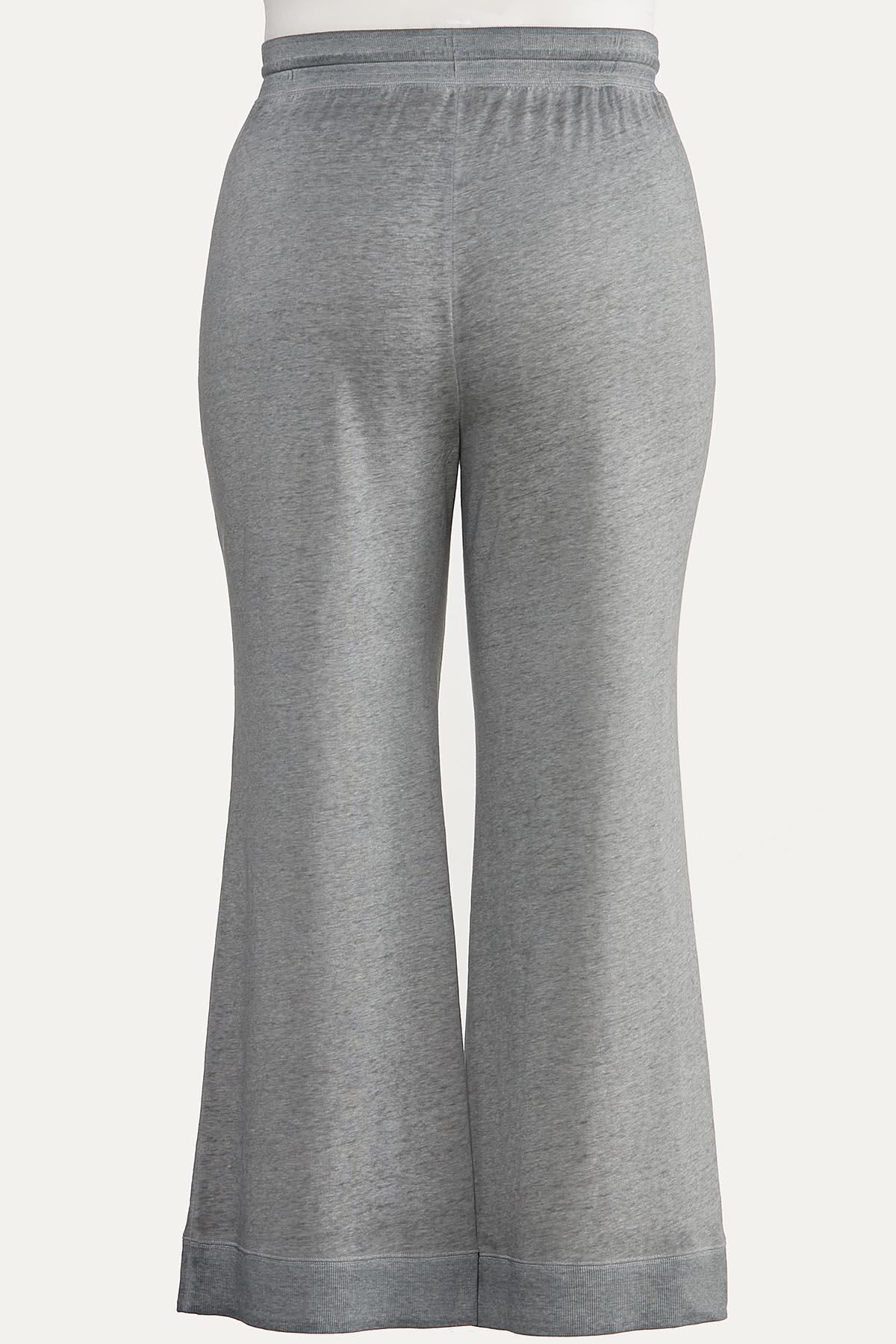 Plus Size Gray Flare Lounge Pants (Item #44615487)