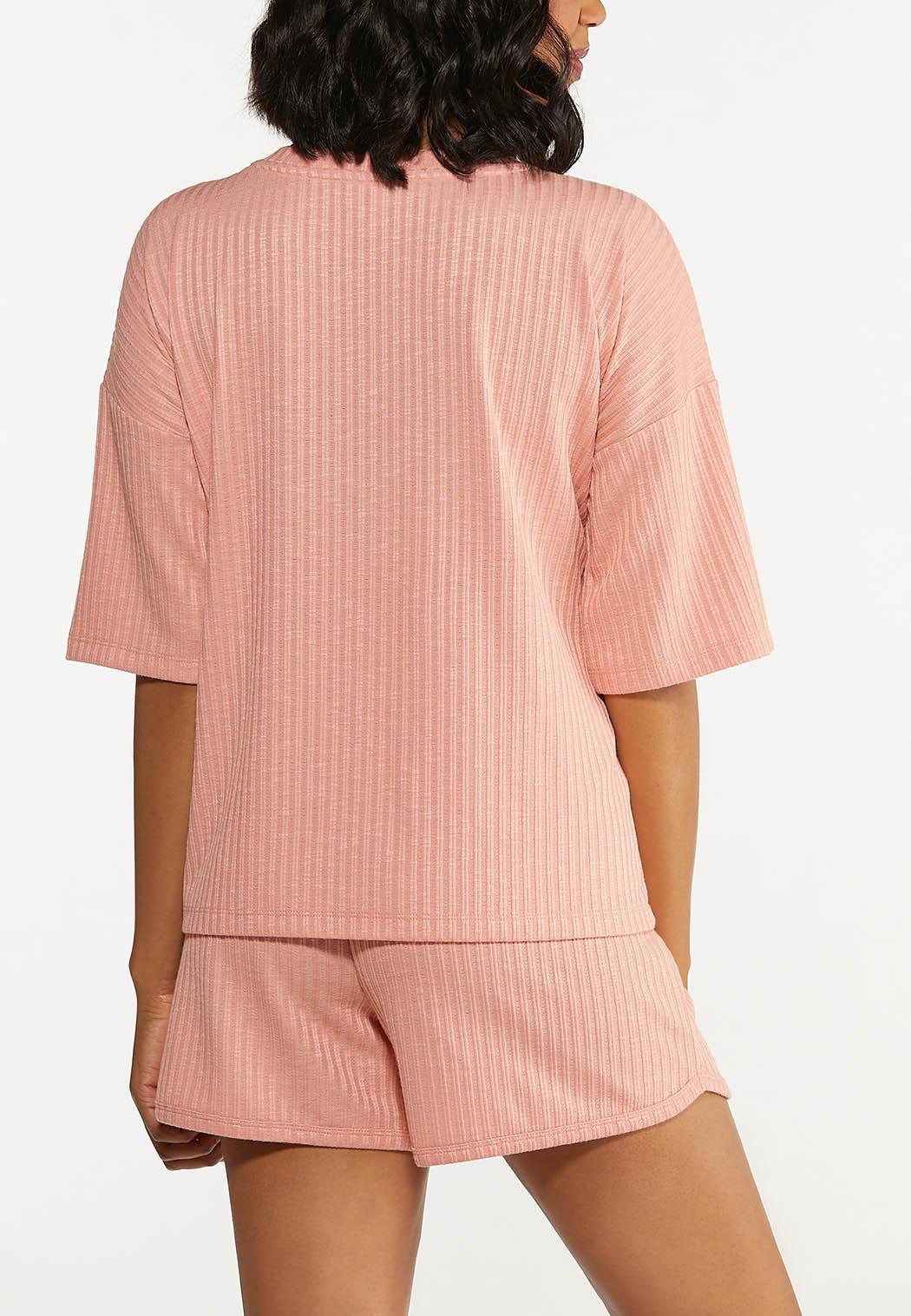 Plus Size Blushing Ribbed Top (Item #44615505)