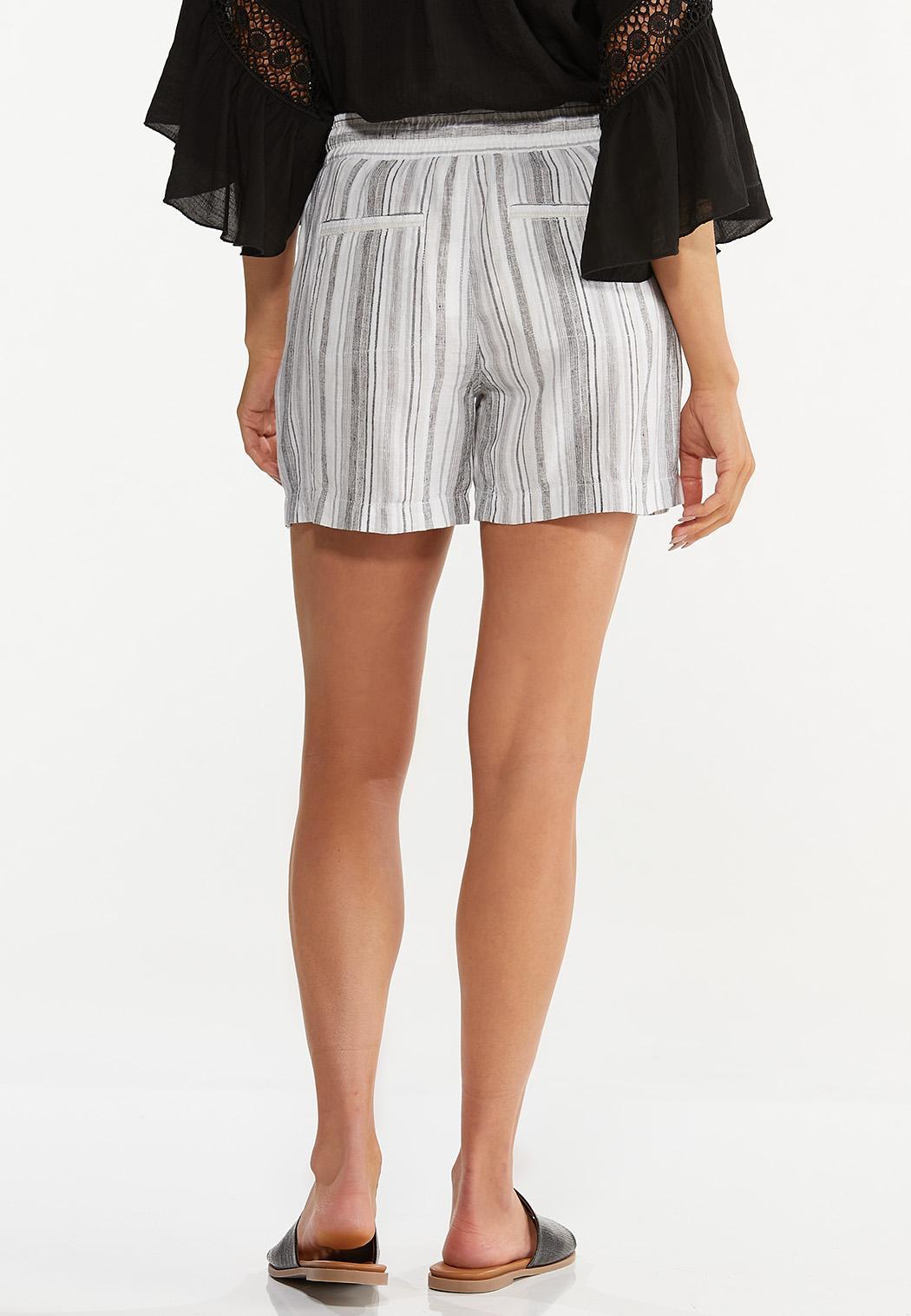 Pepper Stripe Linen Shorts (Item #44615633)
