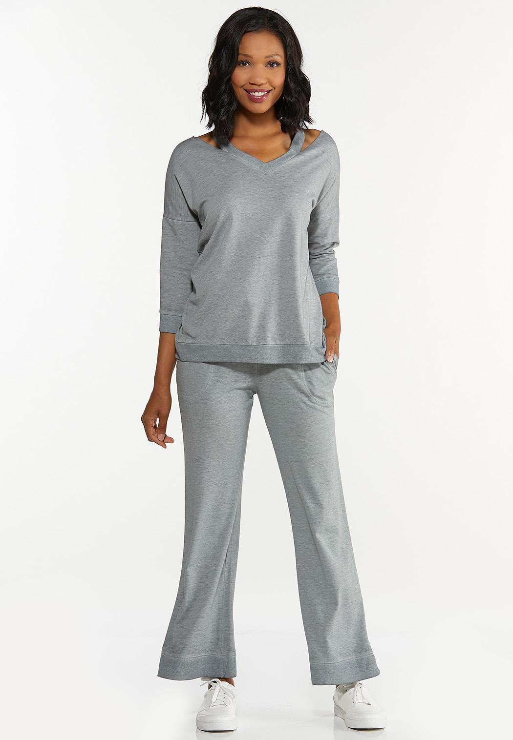 Cutout Shoulder Sweatshirt (Item #44615755)