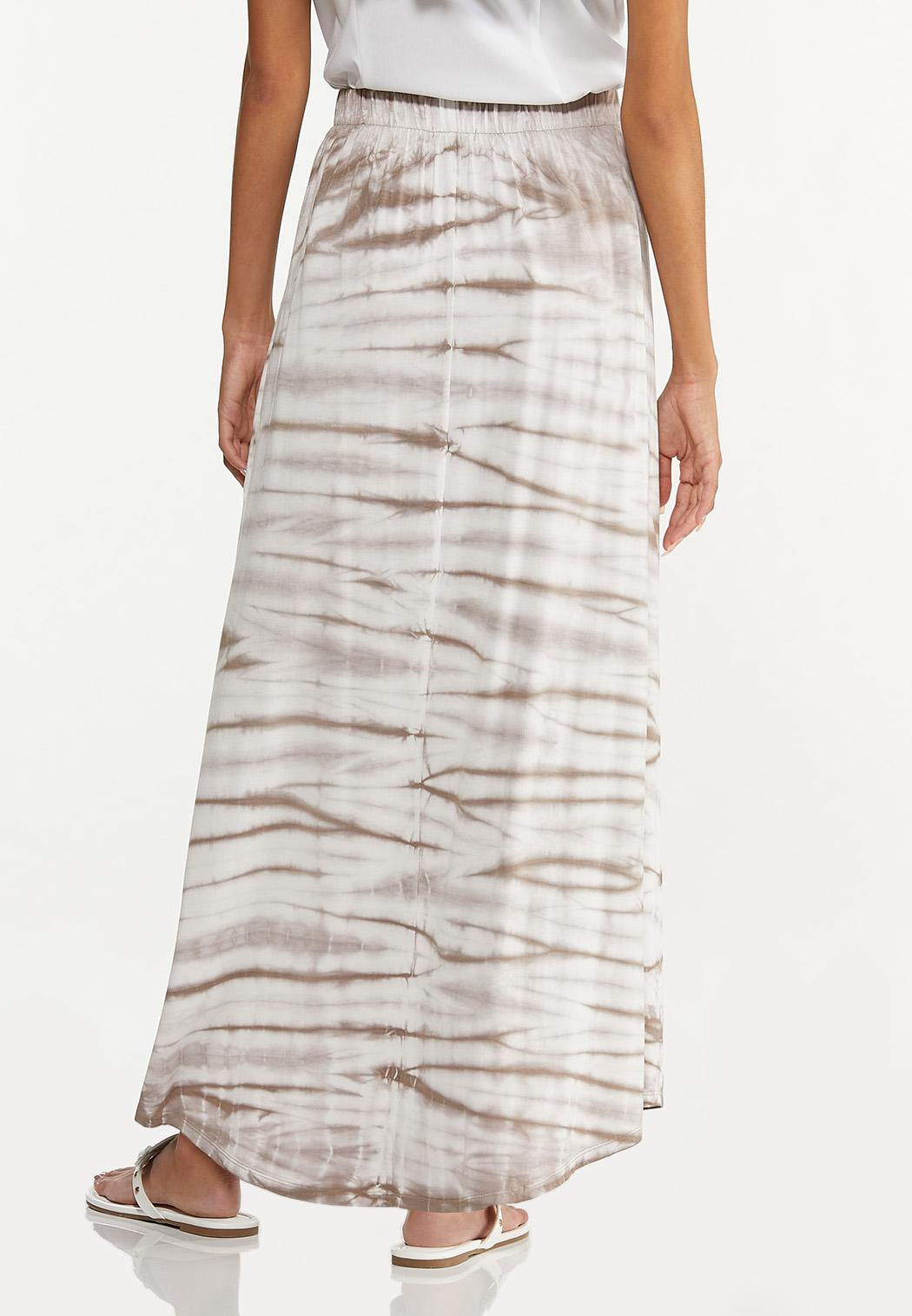 Plus Size Tie Dye Maxi Skirt (Item #44615950)