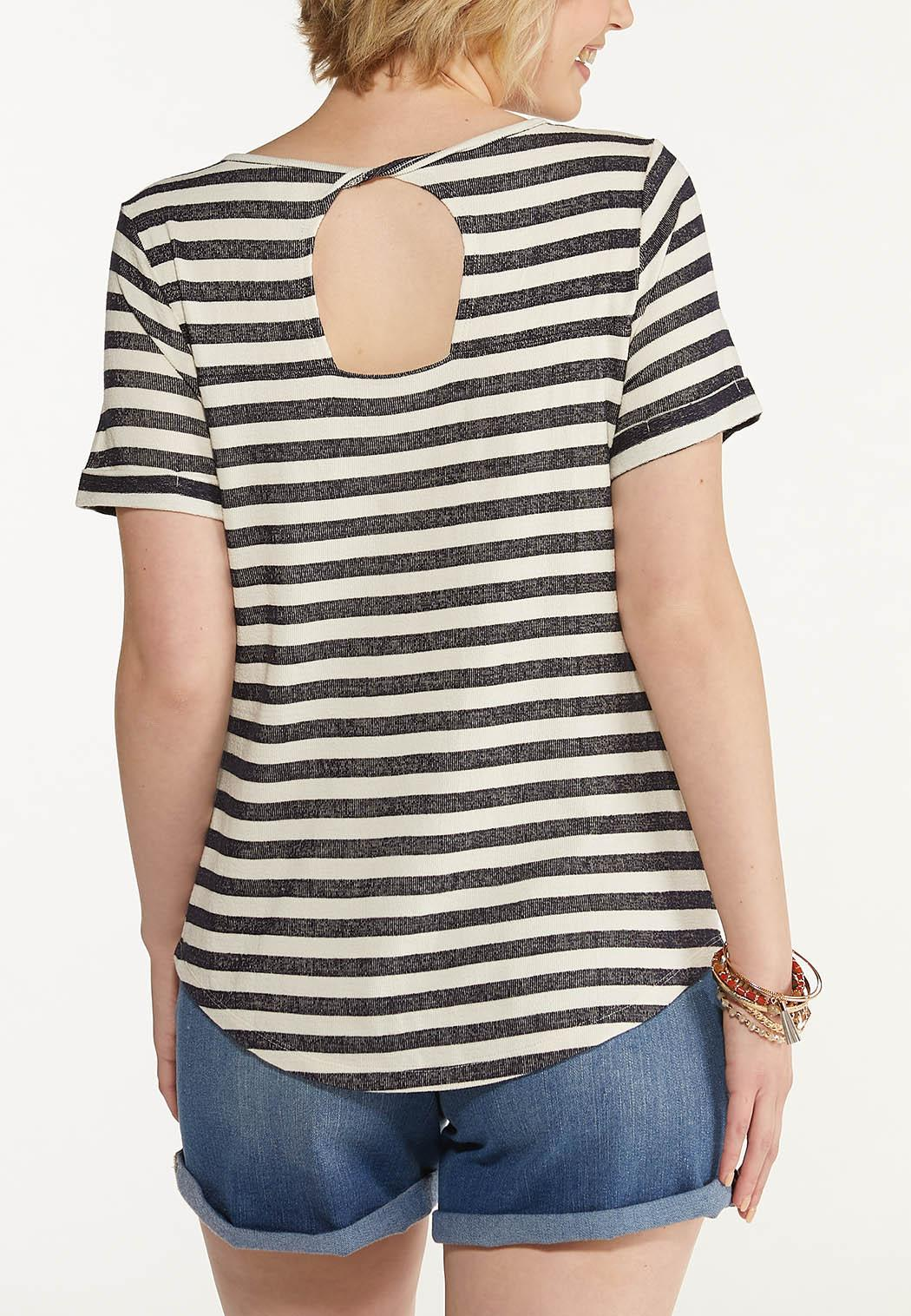 Navy Stripe Top (Item #44616001)