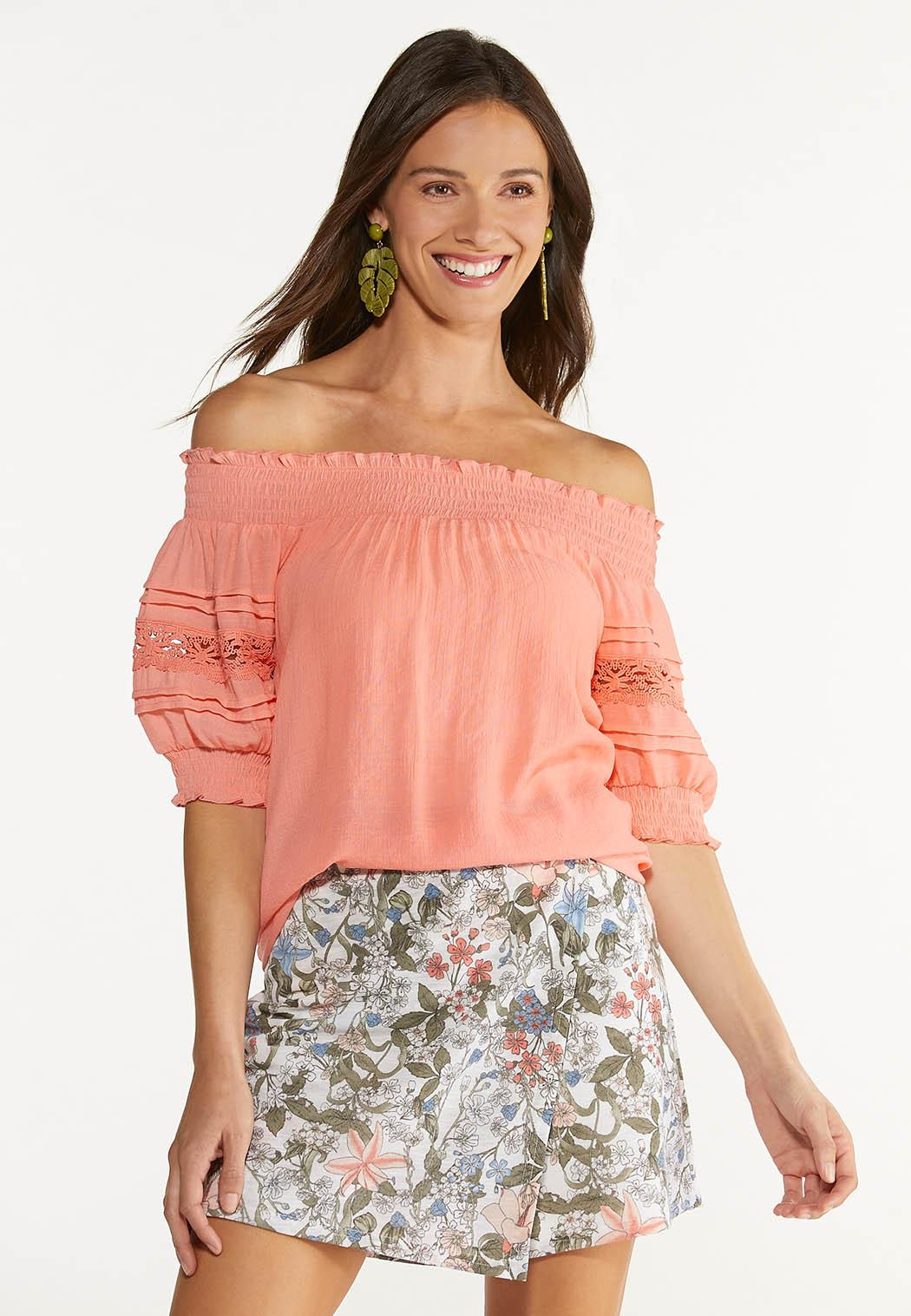 Puff Lace Sleeve Poet Top (Item #44616774)