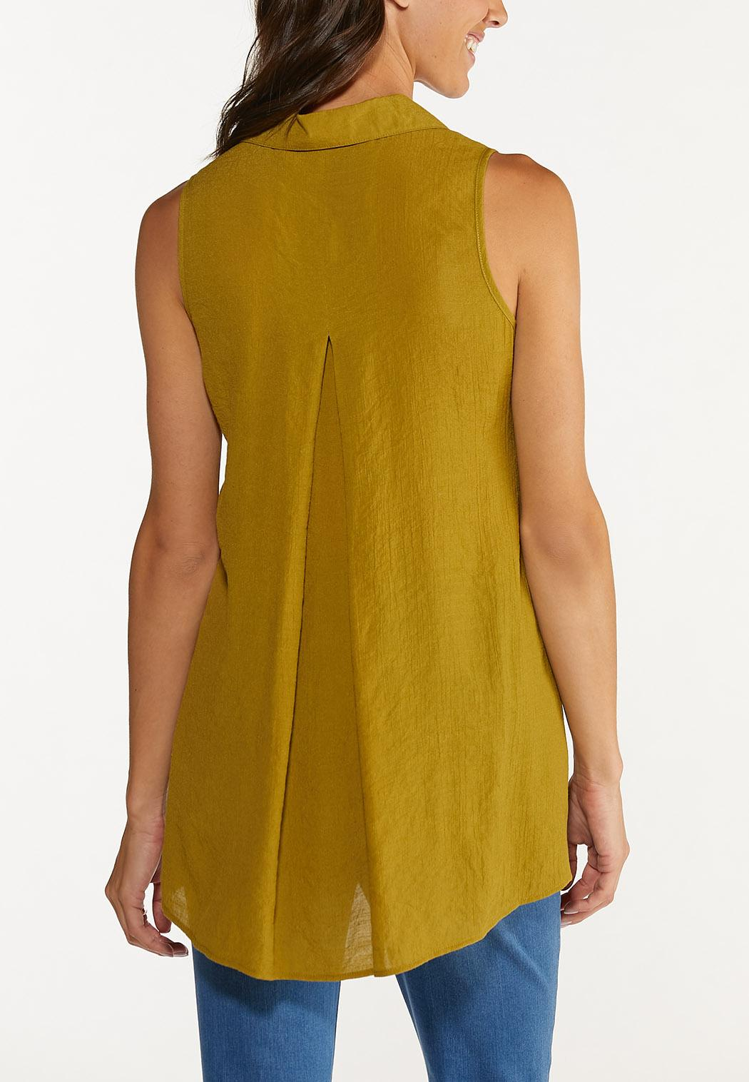 Olive Button Front Tunic (Item #44616993)