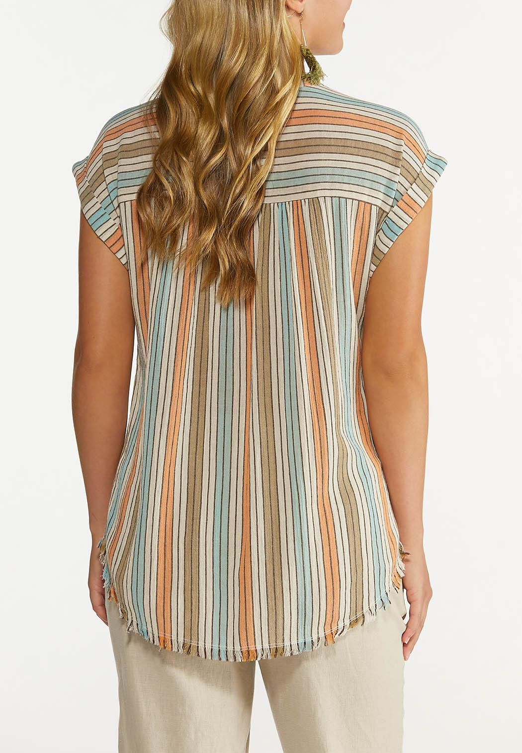 Plus Size Muted Stripe Top (Item #44617046)