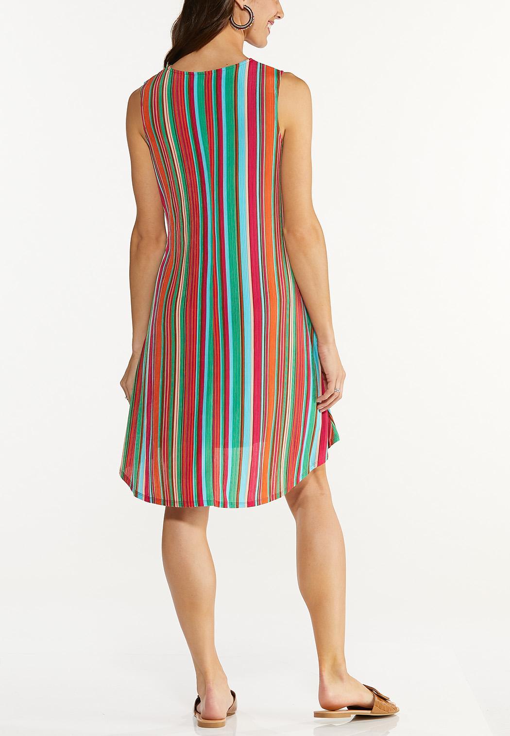 Multi Stripe Ribbed Dress (Item #44617628)