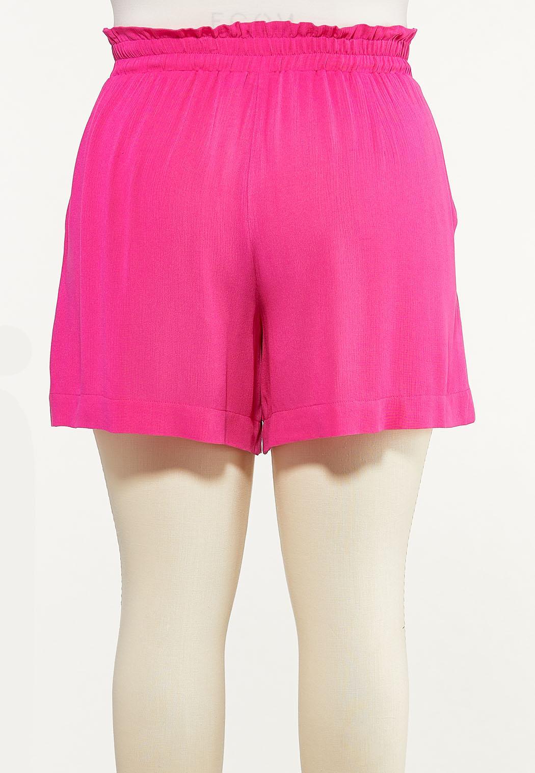 Plus Size Summer Berry Gauze Shorts (Item #44617776)