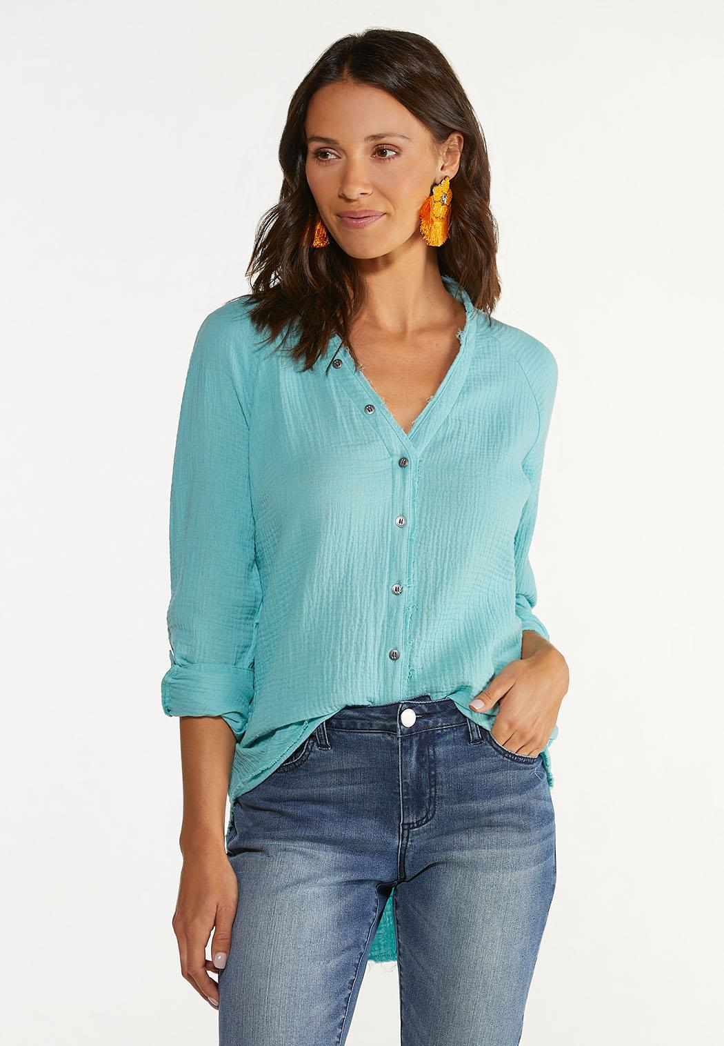 Plus Size Soft Textured Tunic (Item #44617973)