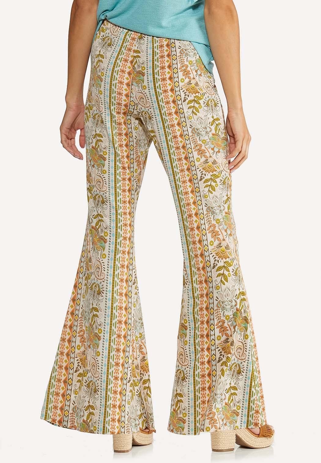 Petite Retro Floral Flare Pants (Item #44618250)