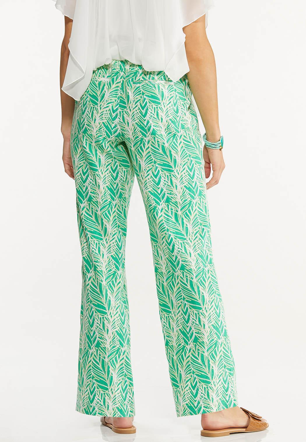 Palm Leaf Linen Pants (Item #44618407)