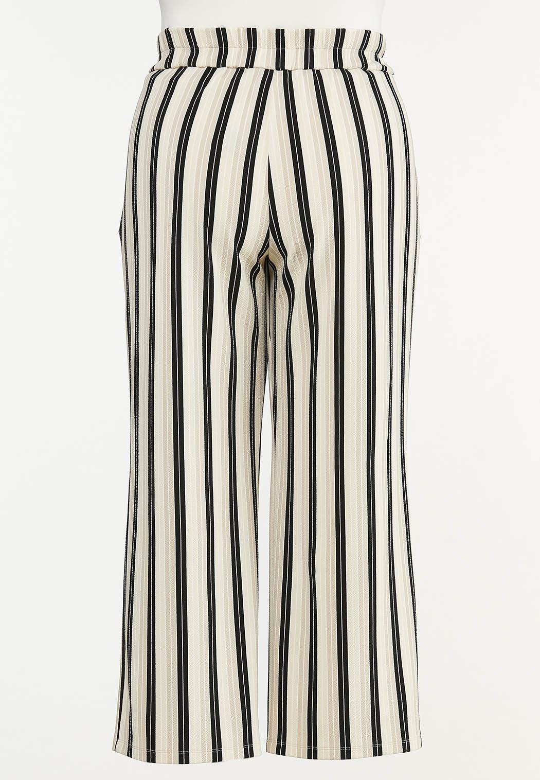 Plus Petite Striped Trouser Pants (Item #44618525)
