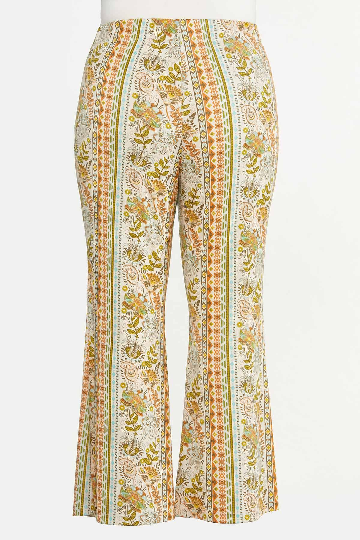 Plus Petite Retro Floral Flare Pants (Item #44618557)