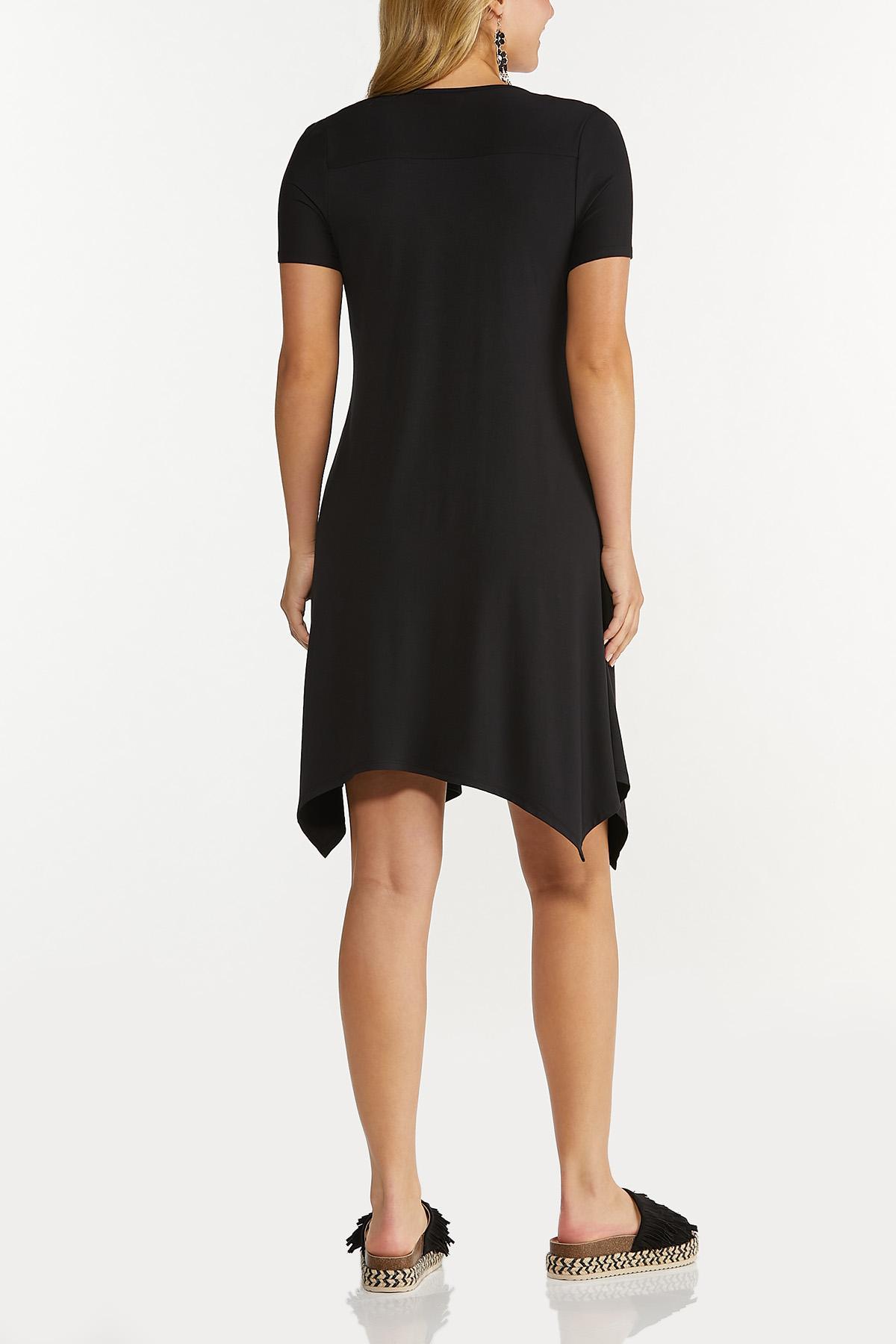 Plus Size Solid Cutout Shoulder Dress (Item #44619176)