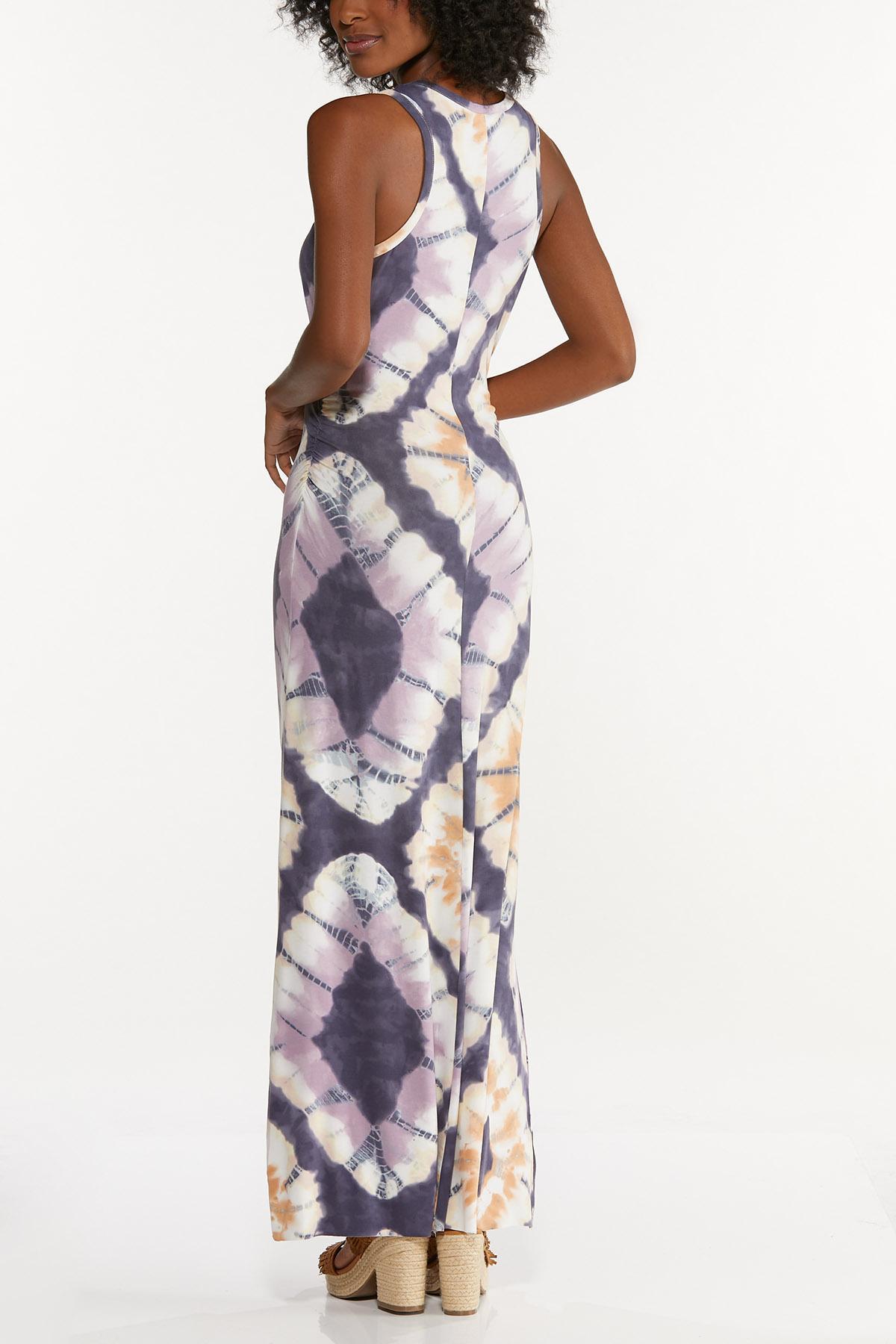 Plus Size Racerback Tie Dye Maxi Dress (Item #44619224)