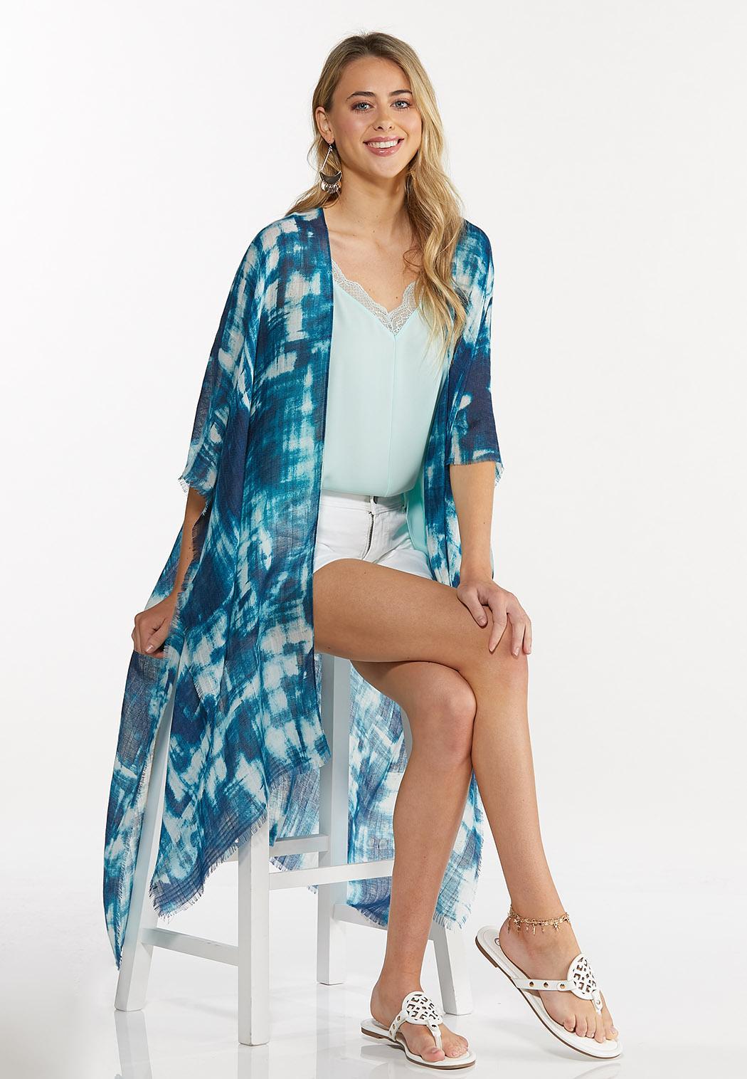 Abstract Brushstroke Kimono (Item #44619542)