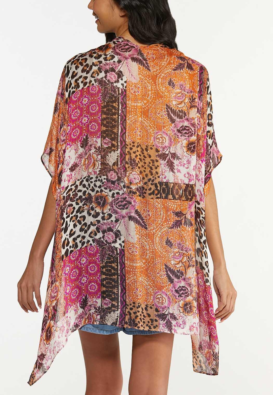 Mixed Patchwork Print Kimono (Item #44620203)