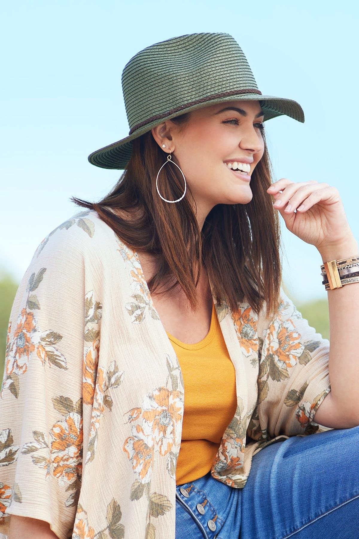 Braided Band Color Panama Hat (Item #44620213)