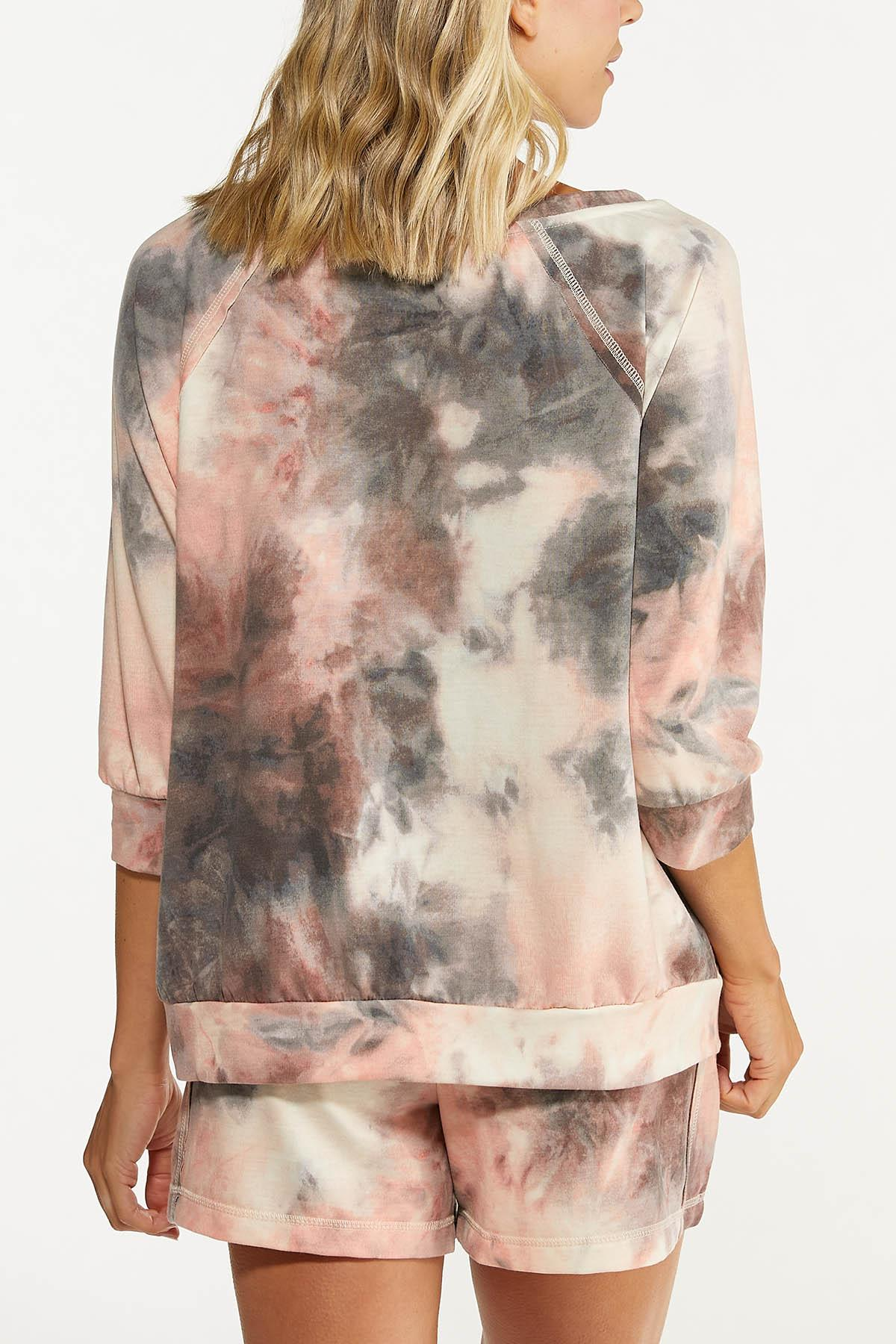 Plus Size Relaxed Tie Dye Top (Item #44620256)