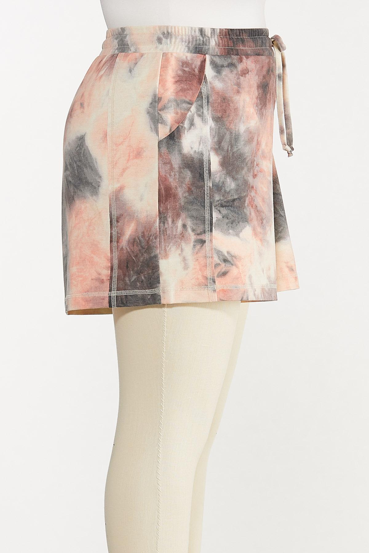 Plus Size Tie Dye Lounge Shorts (Item #44620337)