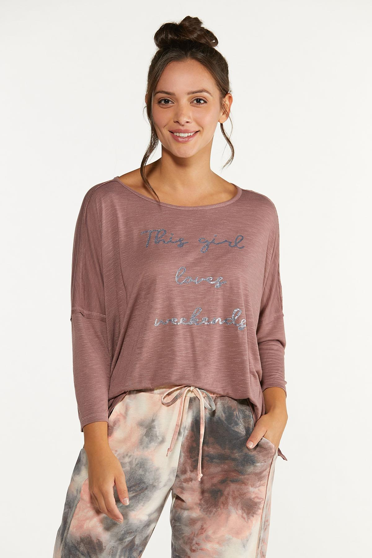 This Girl Loves Weekends Shirt (Item #44620347)