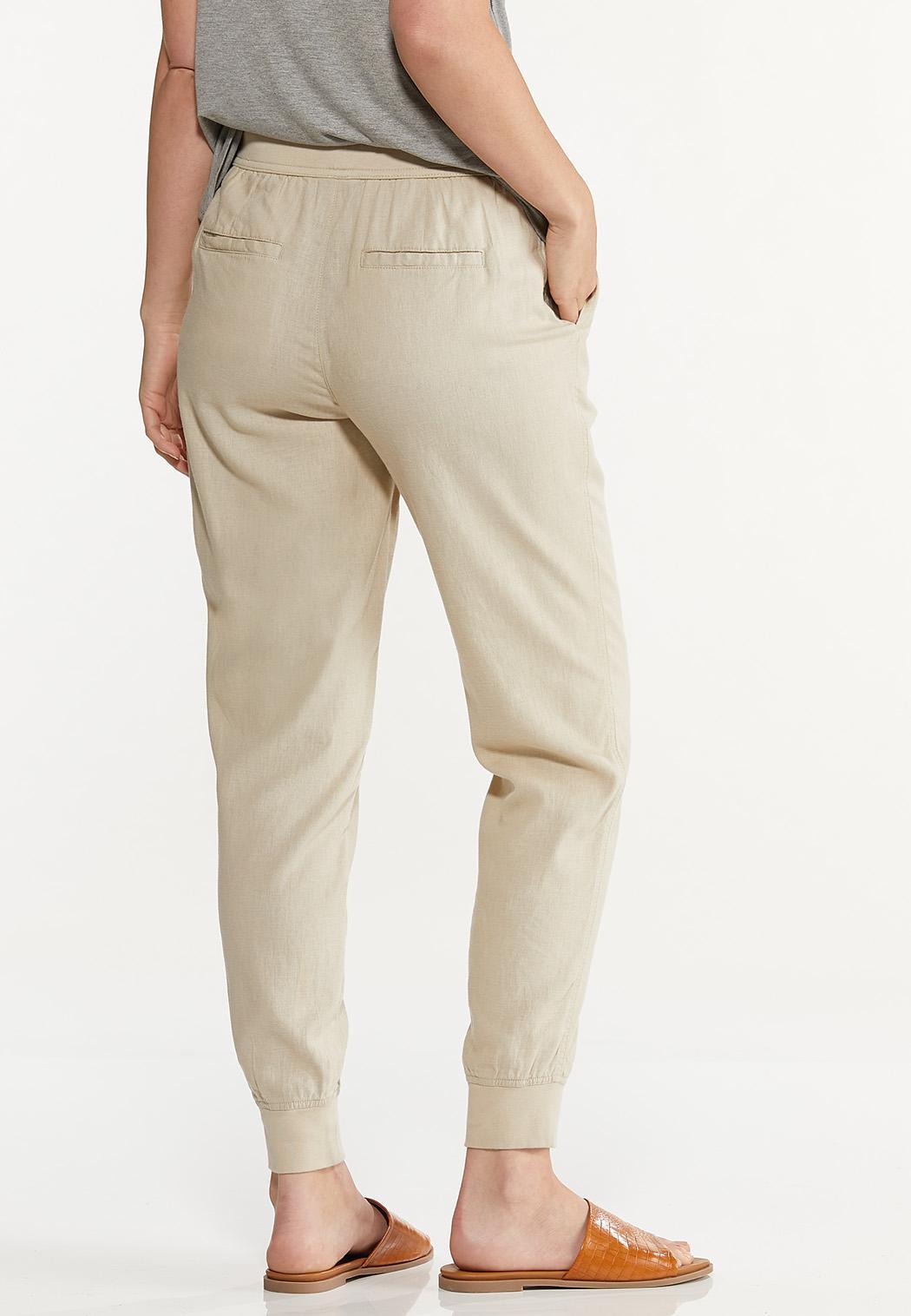 Natural Linen Joggers (Item #44620399)