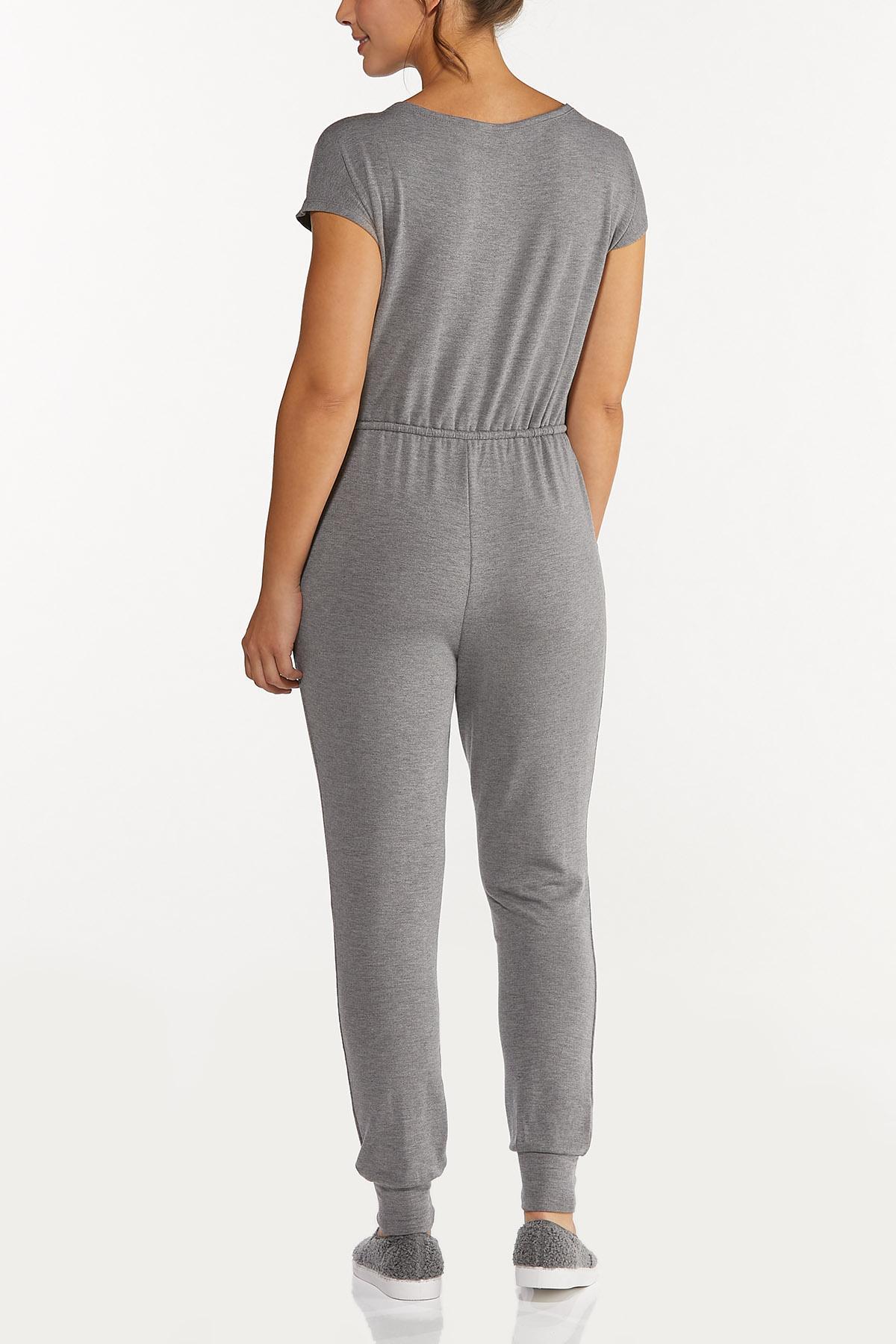 Plus Size Slouch Shoulder Jumpsuit (Item #44620505)