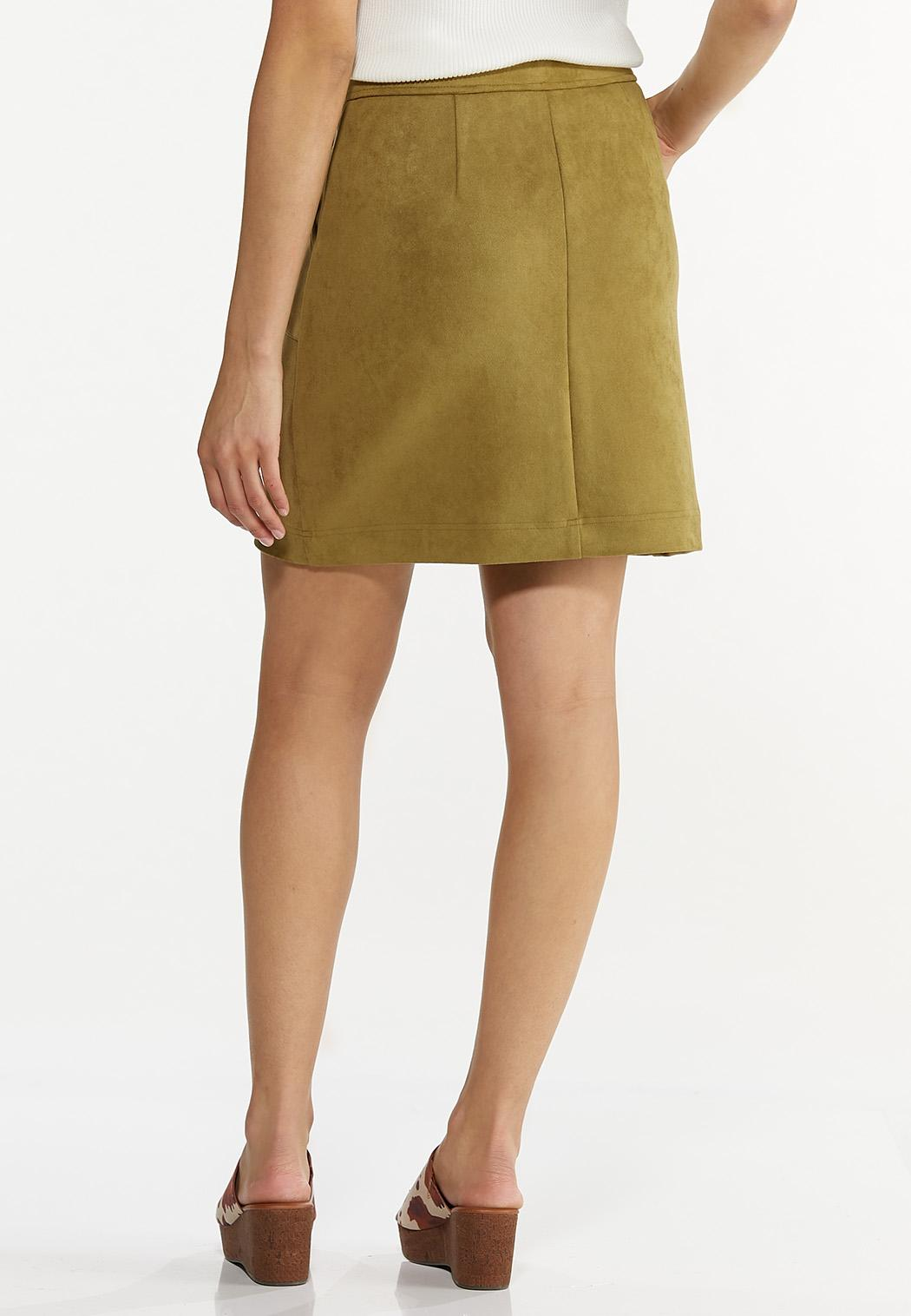 Faux Suede Skirt (Item #44620533)