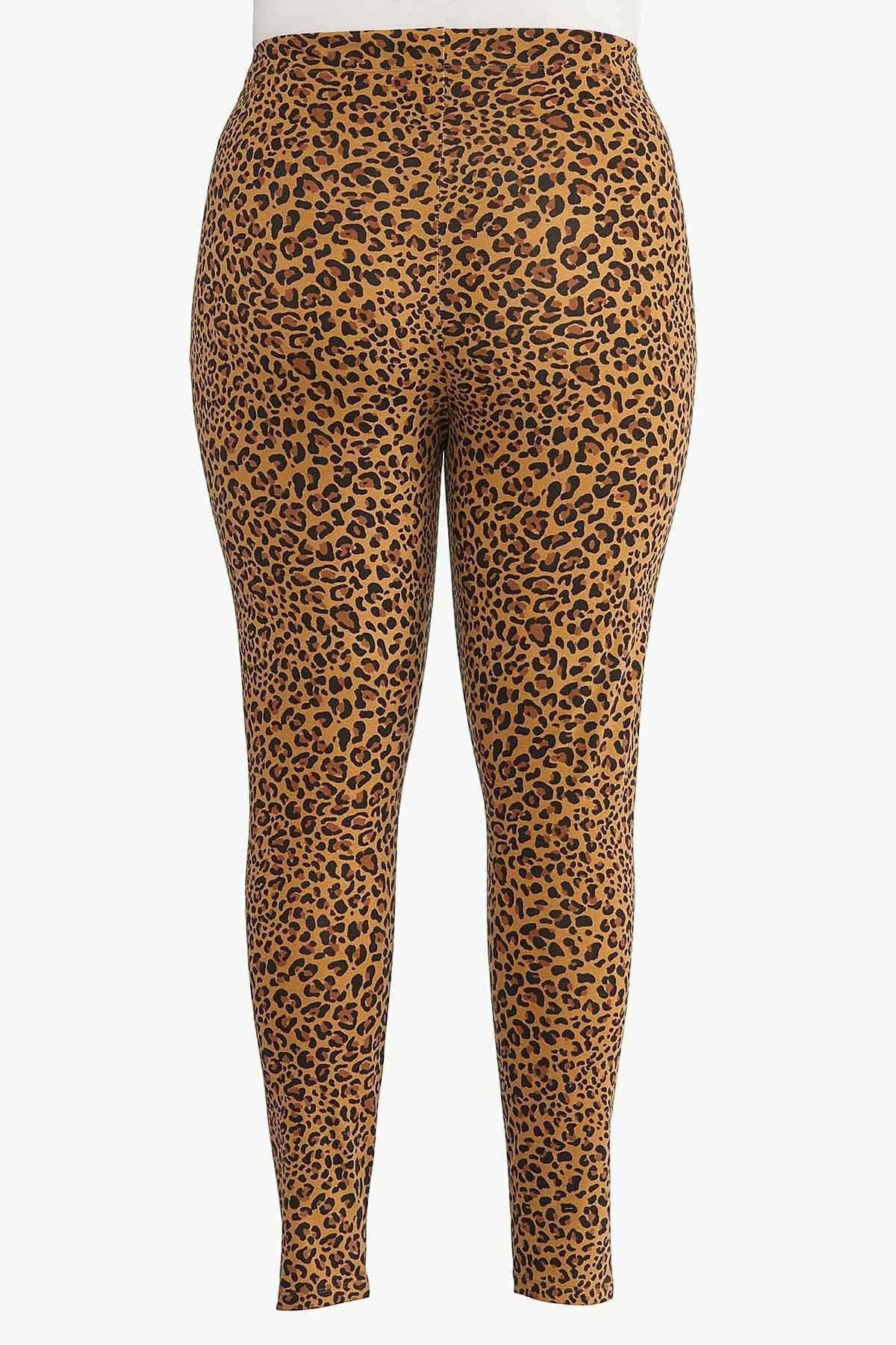 Plus Size Leopard Leggings (Item #44620559)