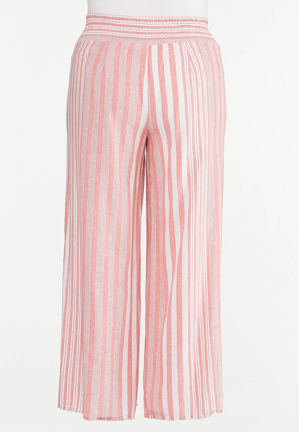 Plus Size Striped Palazzo Pants (Item #44620744)
