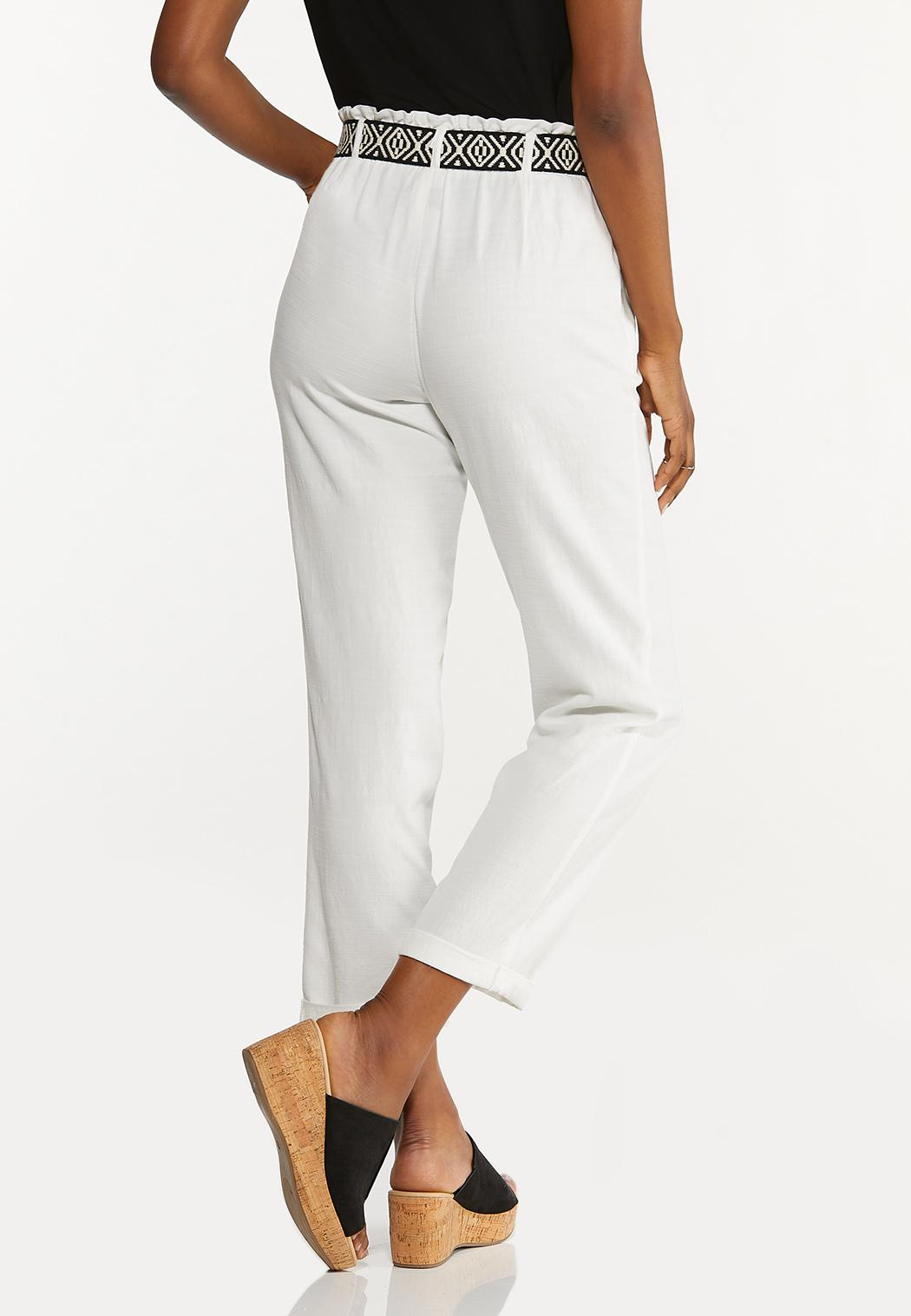 Breezy White Belted Pants (Item #44620783)