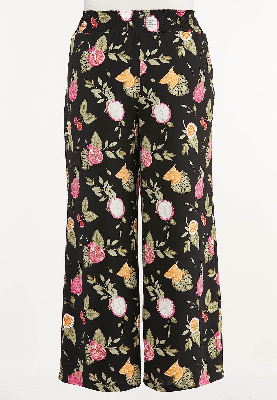 Plus Size Tropical Fruit Cocktail Pants (Item #44620938)