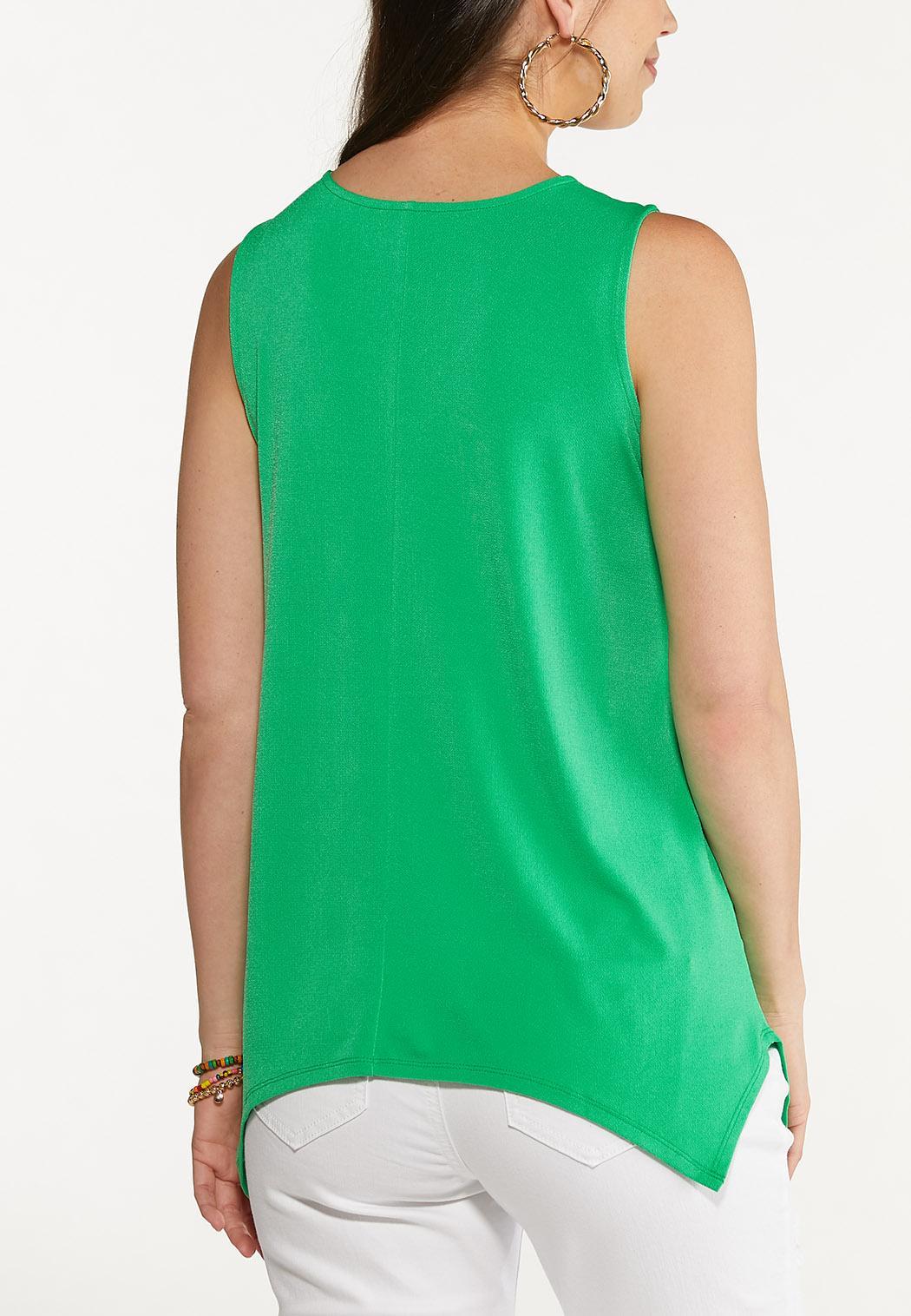 Plus Size Solid Criss Cross Tunic (Item #44621808)