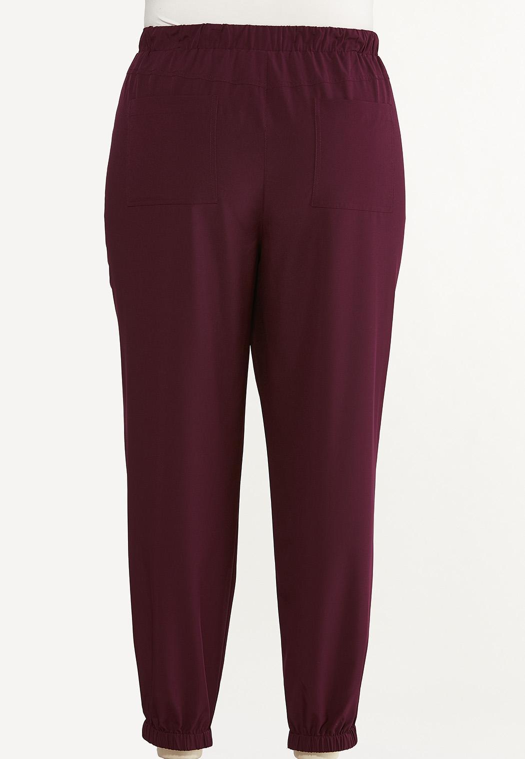 Plus Size Solid Jogger Pants (Item #44621924)