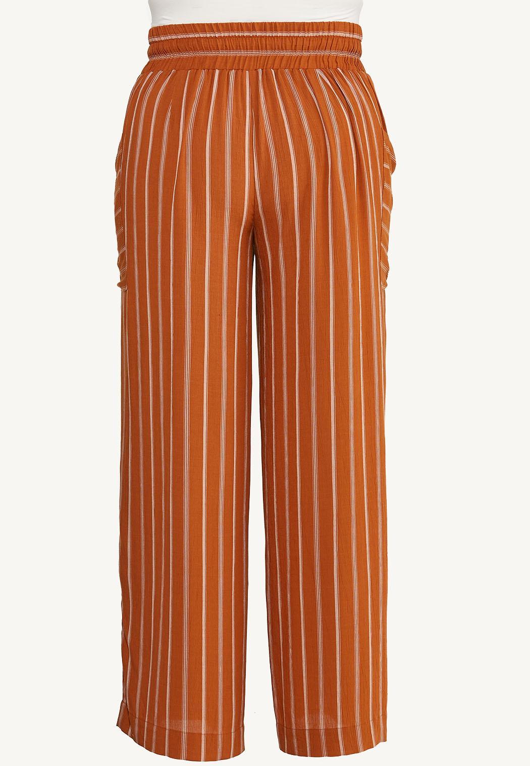 Plus Size Striped Wide Leg Pants (Item #44621935)