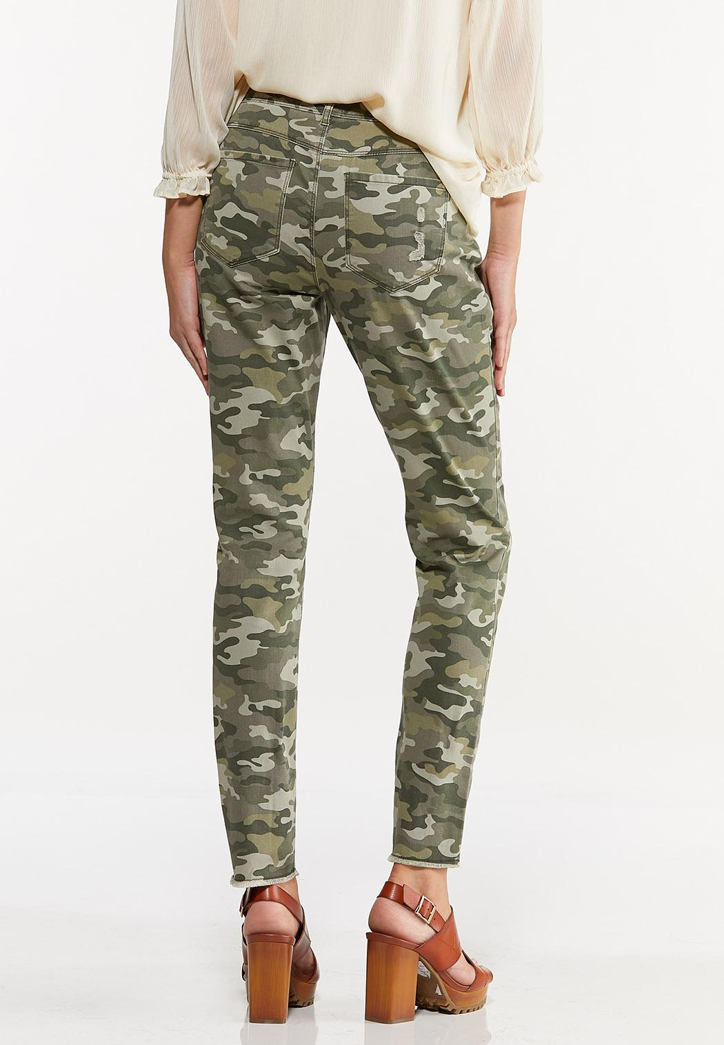 Distressed Camo Skinny Pants (Item #44622026)