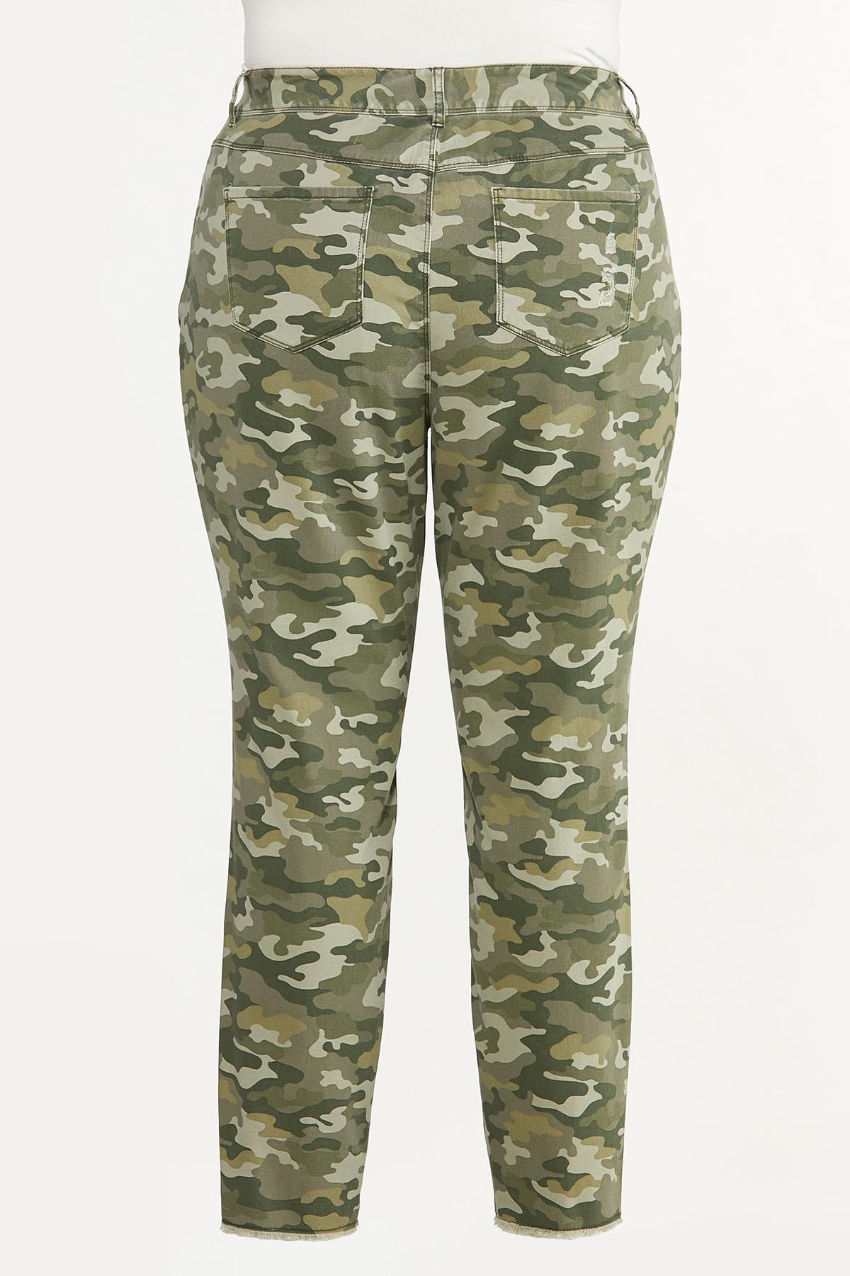 Plus Size Distressed Camo Skinny Pants (Item #44622129)