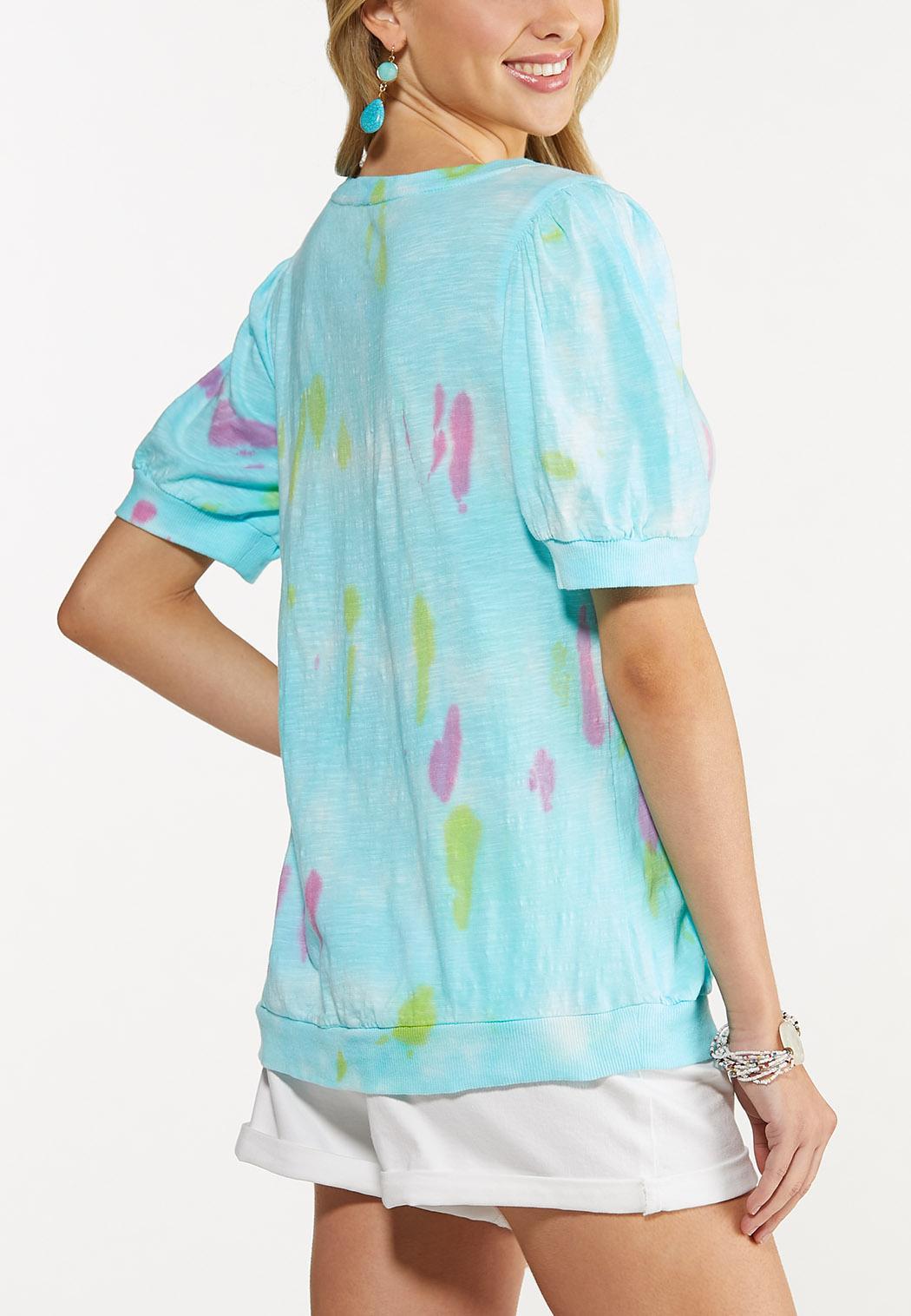 Plus Size Slouch Tie Dye Tee (Item #44622301)