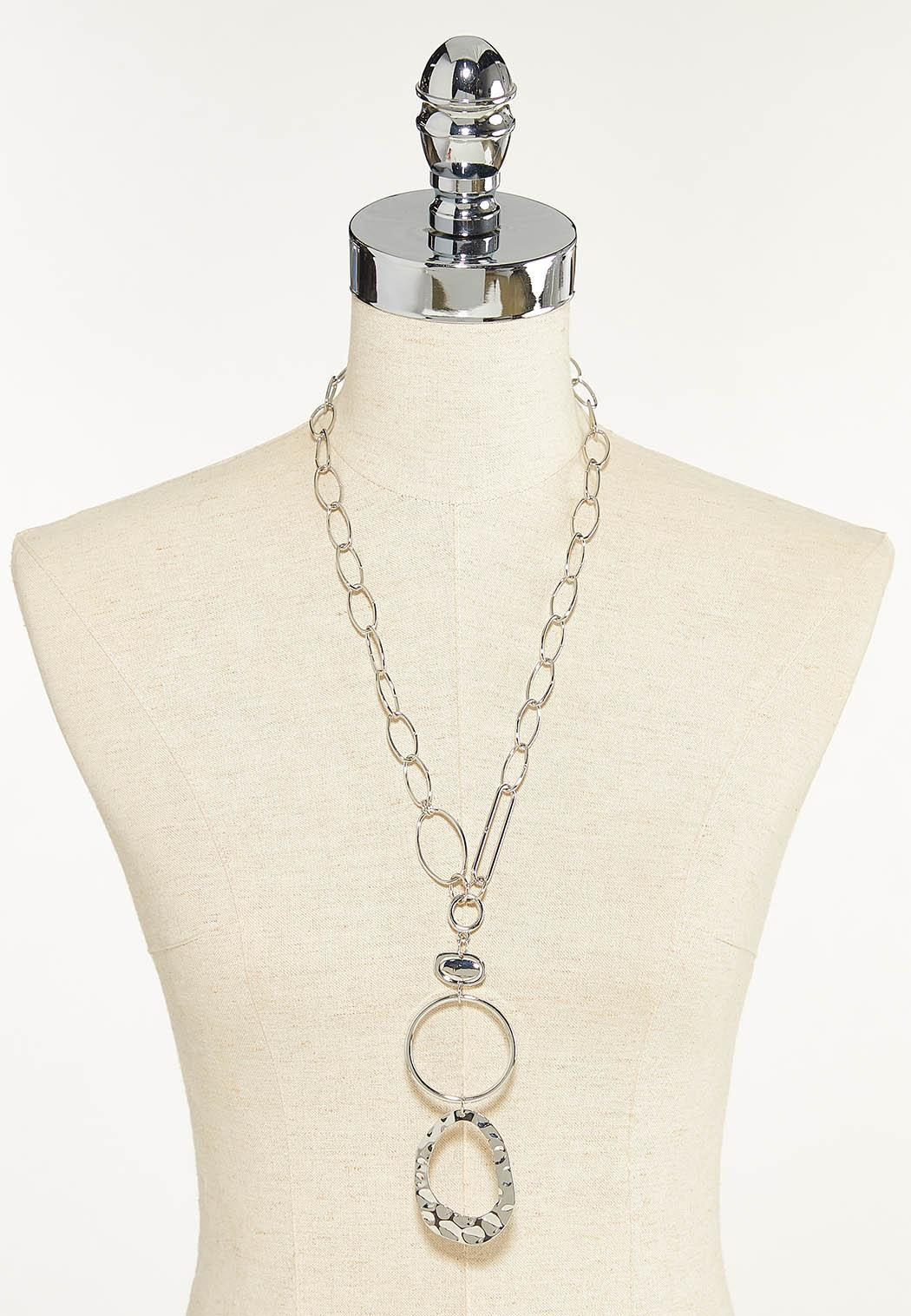 Hammered Pendant Link Necklace (Item #44622302)