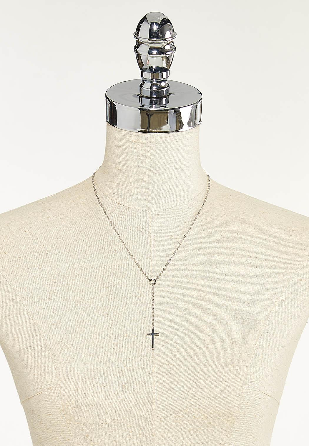 Small Cross Y-Necklace (Item #44622316)