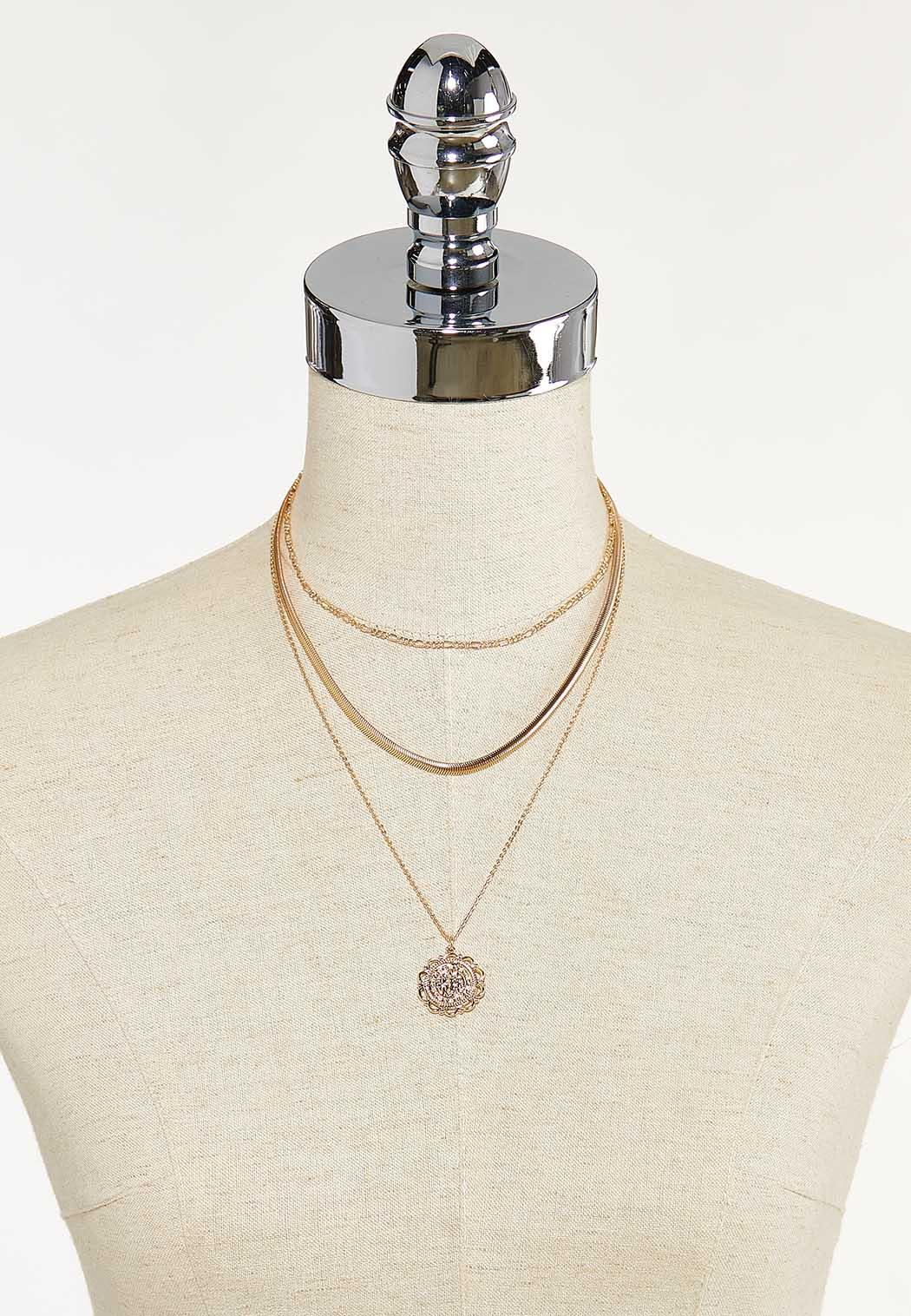 Delicate Chain Coin Necklace (Item #44622428)