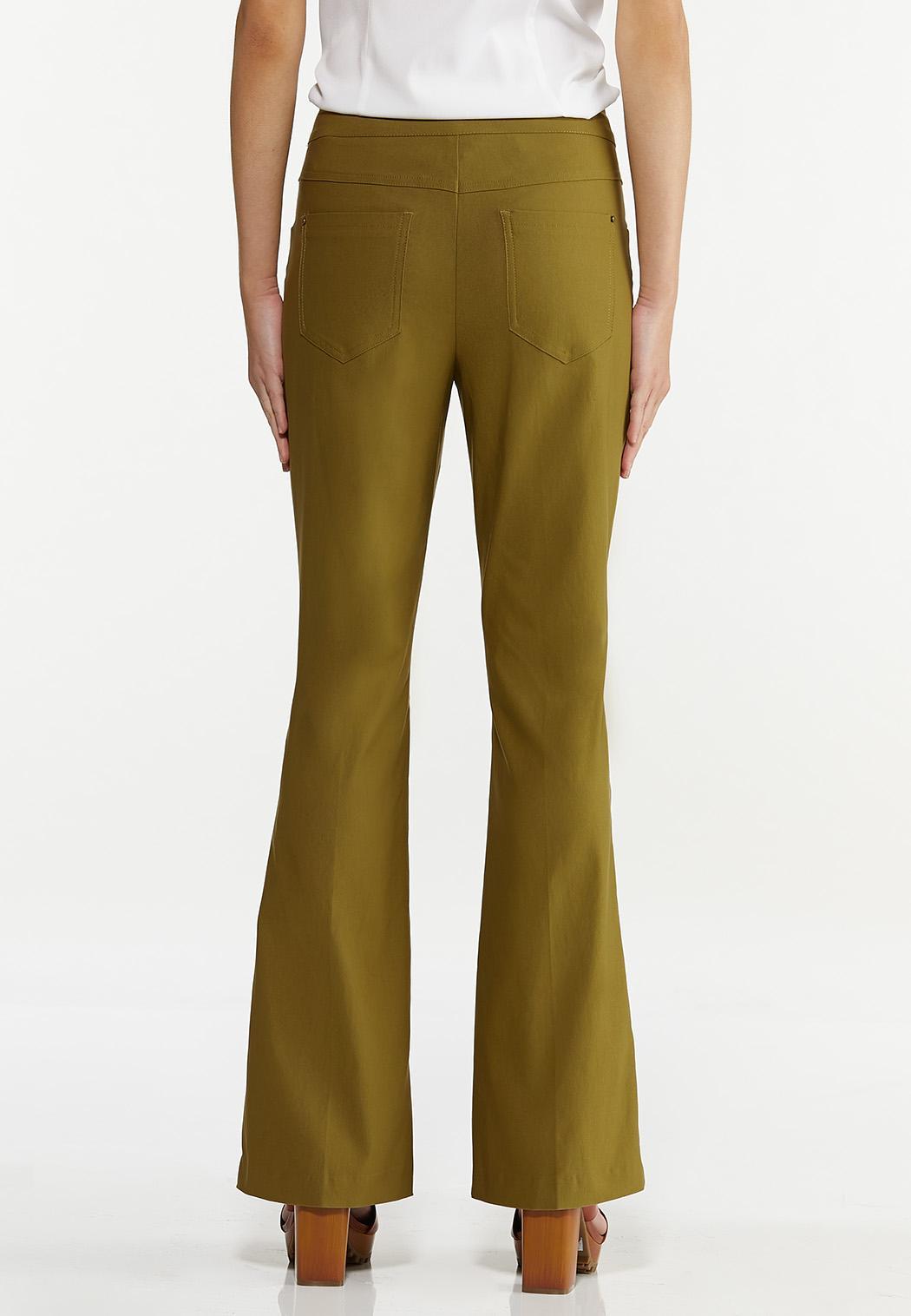 Solid Bengaline Flare Pants (Item #44622485)