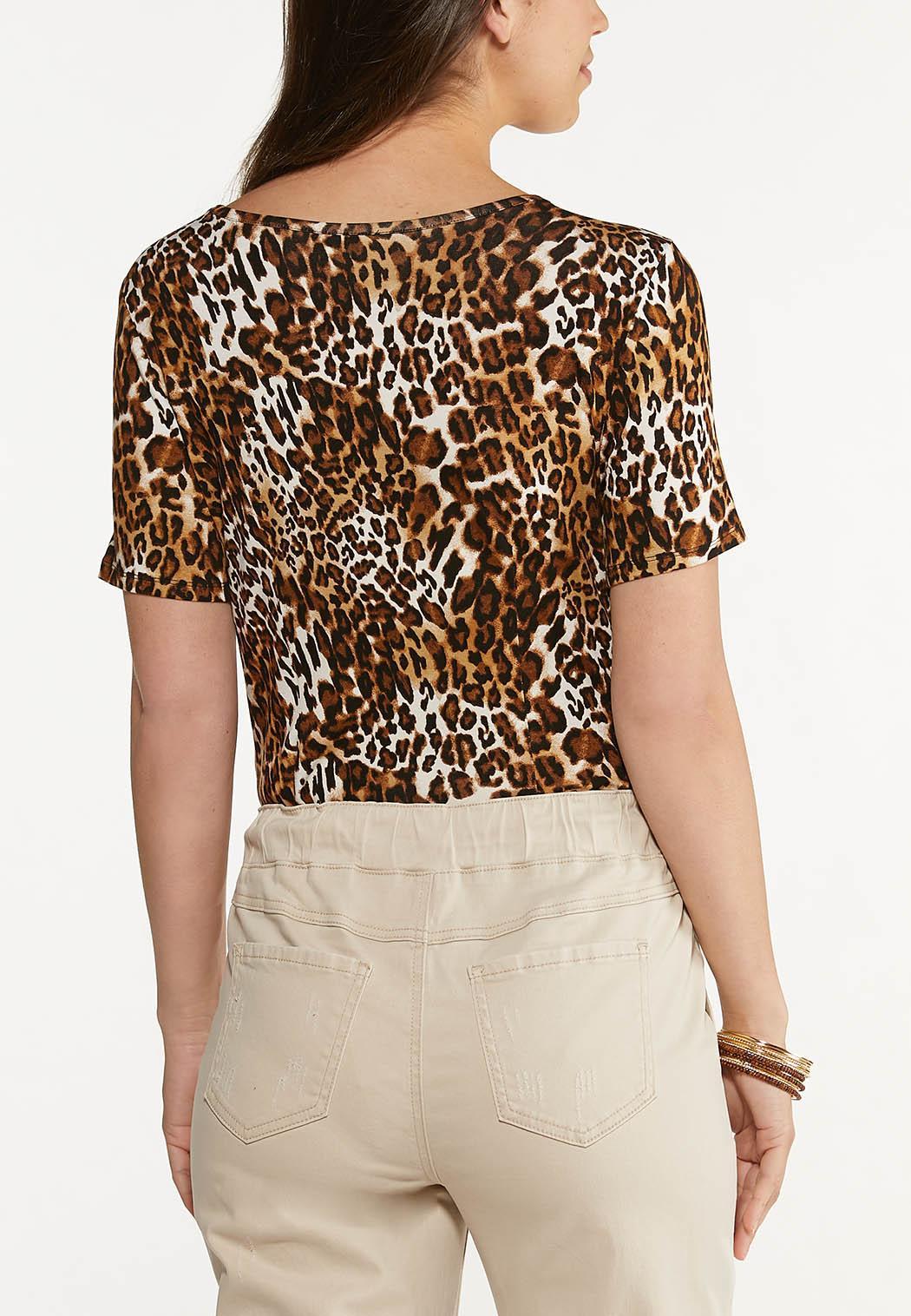 Leopard Cutout Bodysuit (Item #44622515)