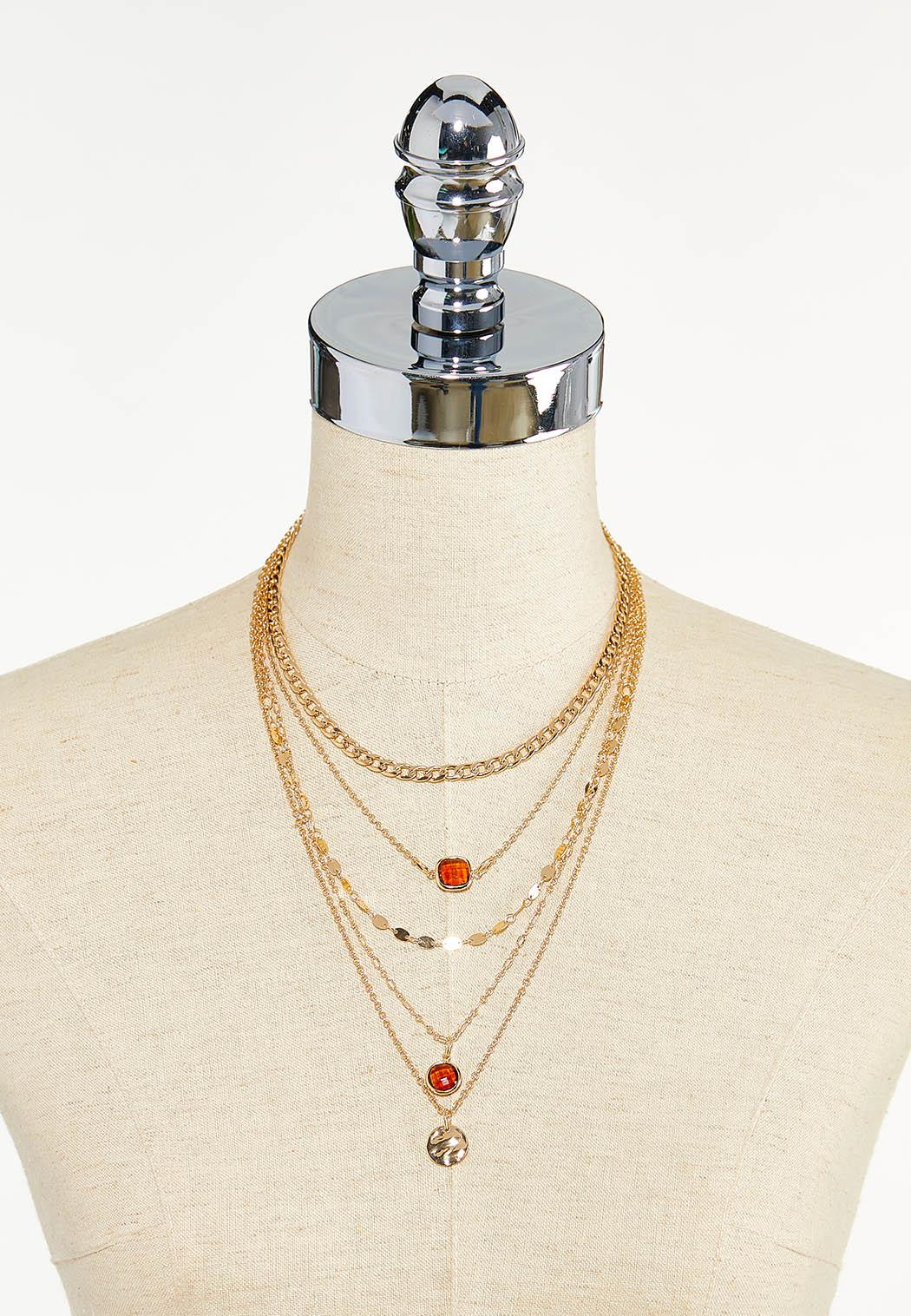 Multi Layered Chain Necklace (Item #44622607)