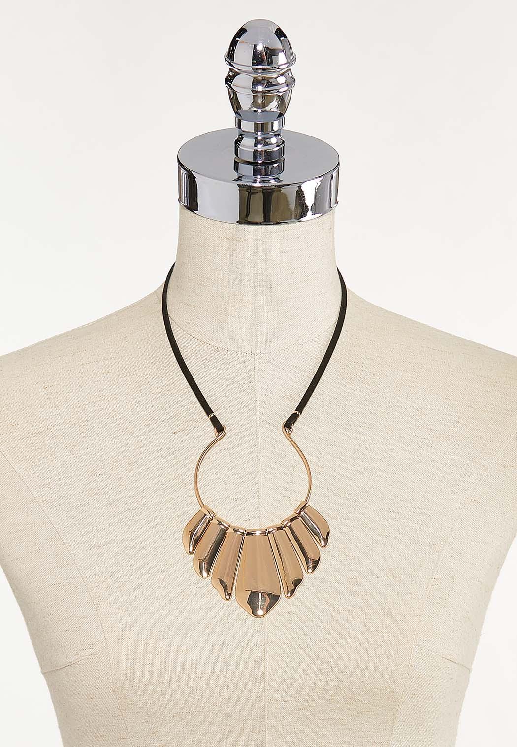 Metal Cord Statement Necklace (Item #44622620)