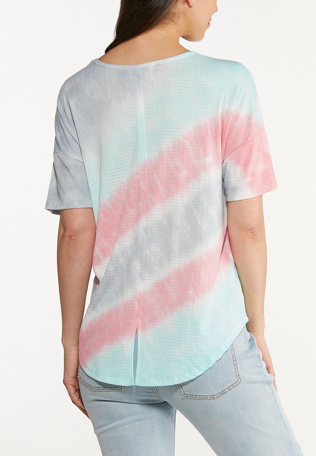 Plus Size Pastel Tie Dye Top (Item #44622671)