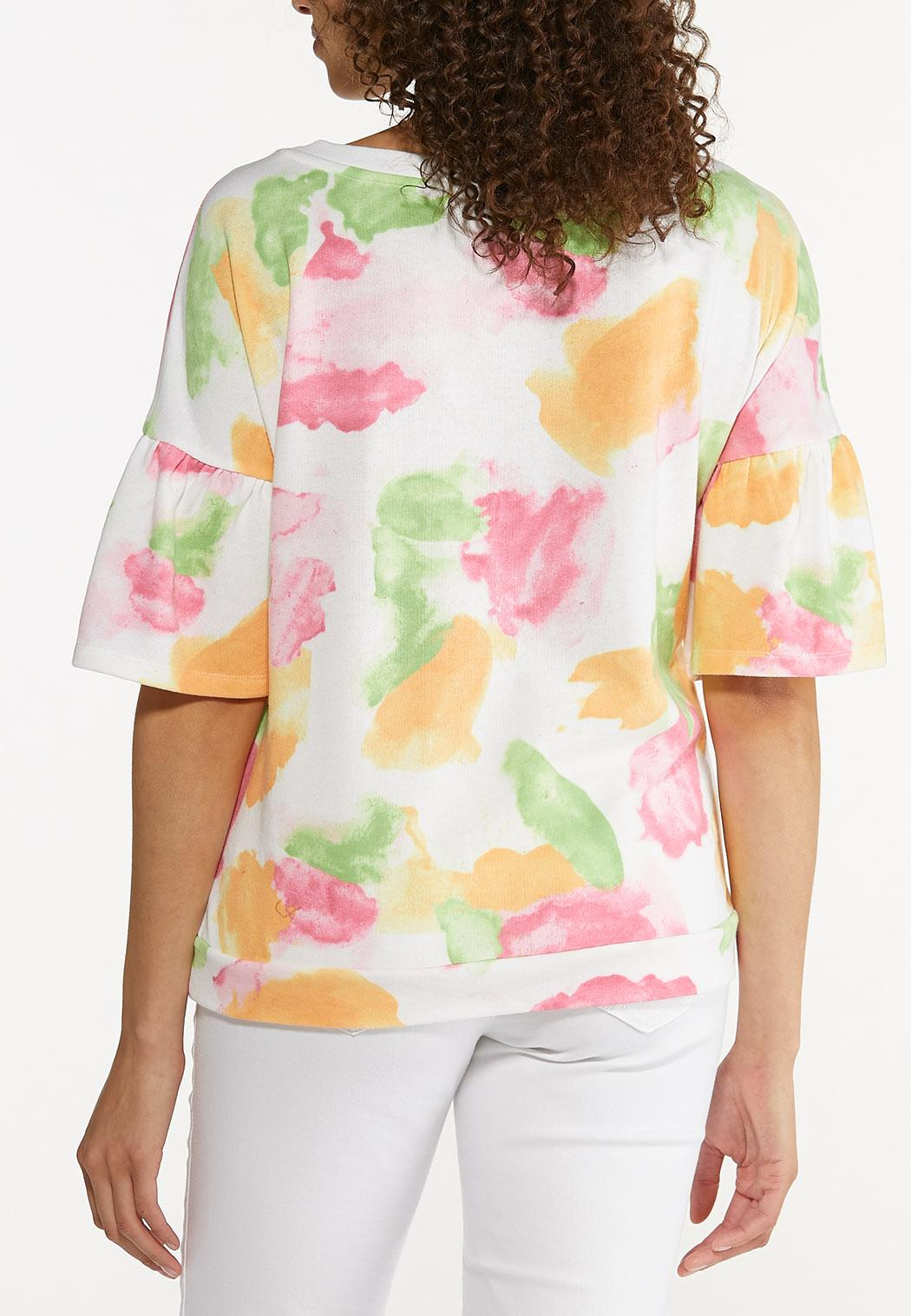Plus Size Color Splash Sweatshirt (Item #44622709)